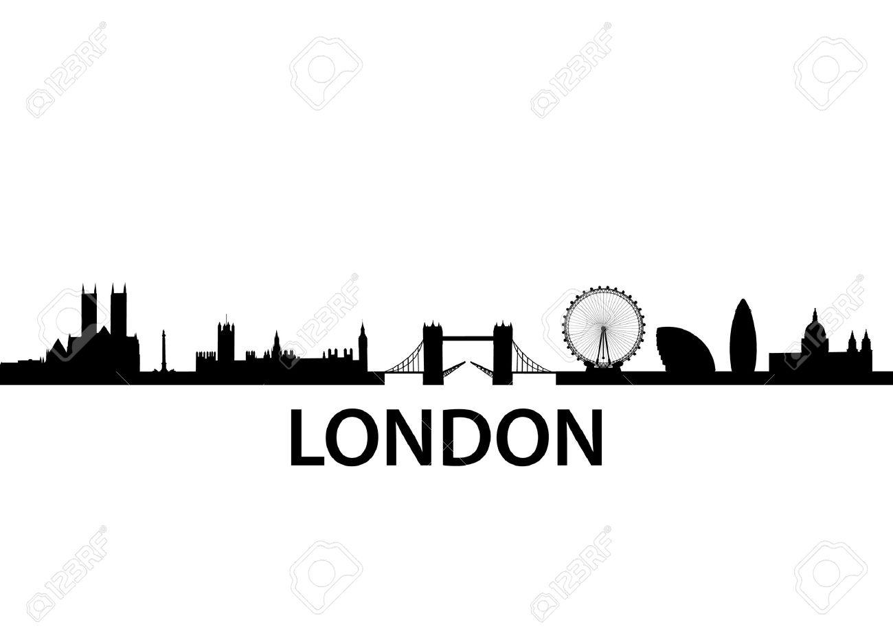 detailed vector skyline of London, UK - 7950603