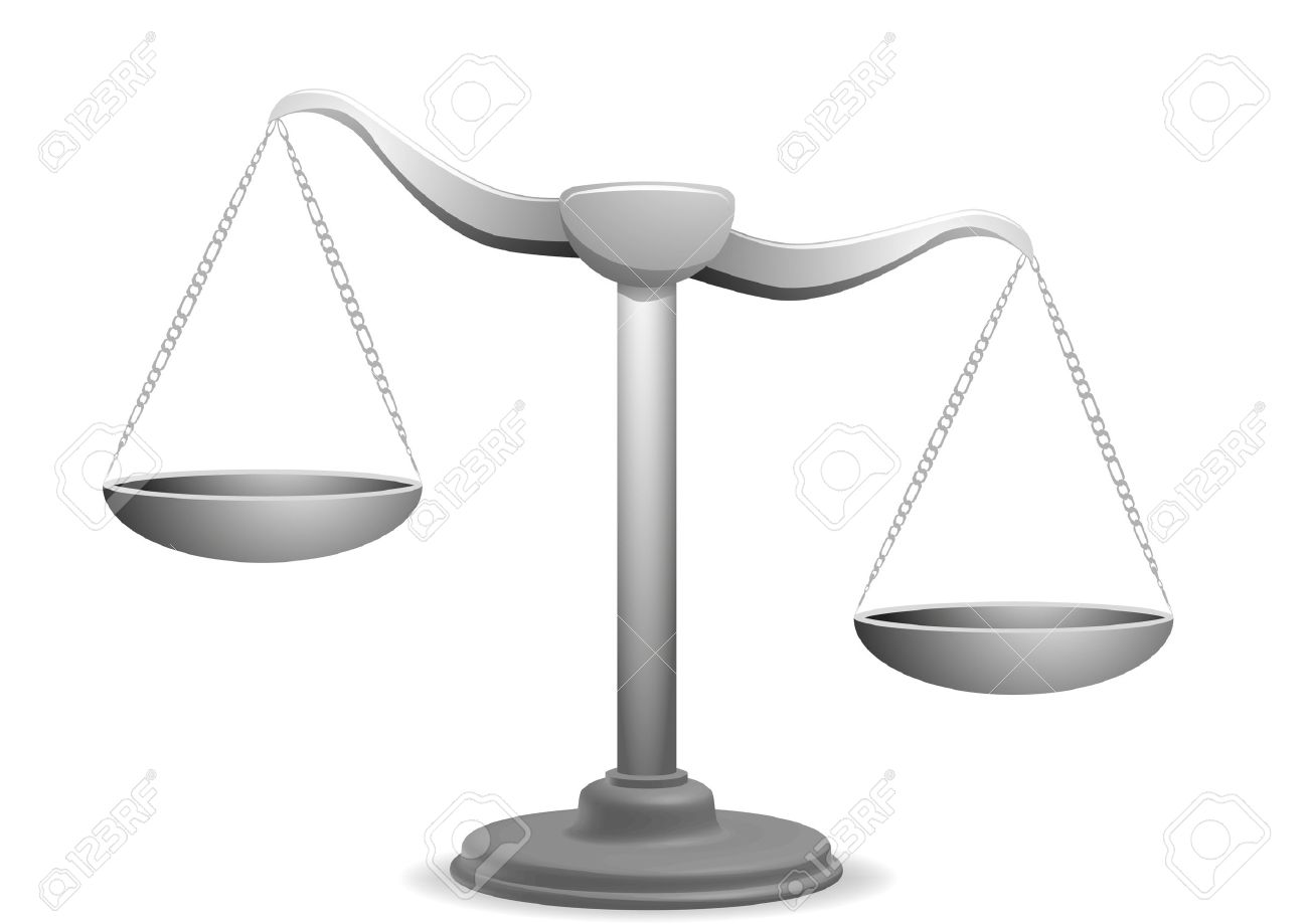 Vector Illustration Of A Unbalanced Balance Royalty Free Cliparts ...