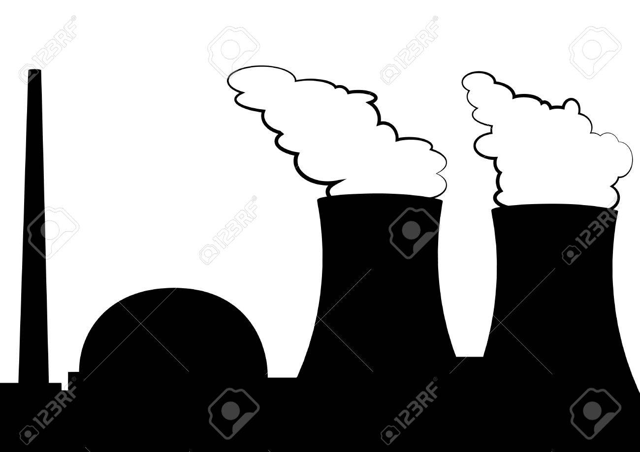 Illustration Of A Nuclear Power Plant Royalty Free Cliparts ...