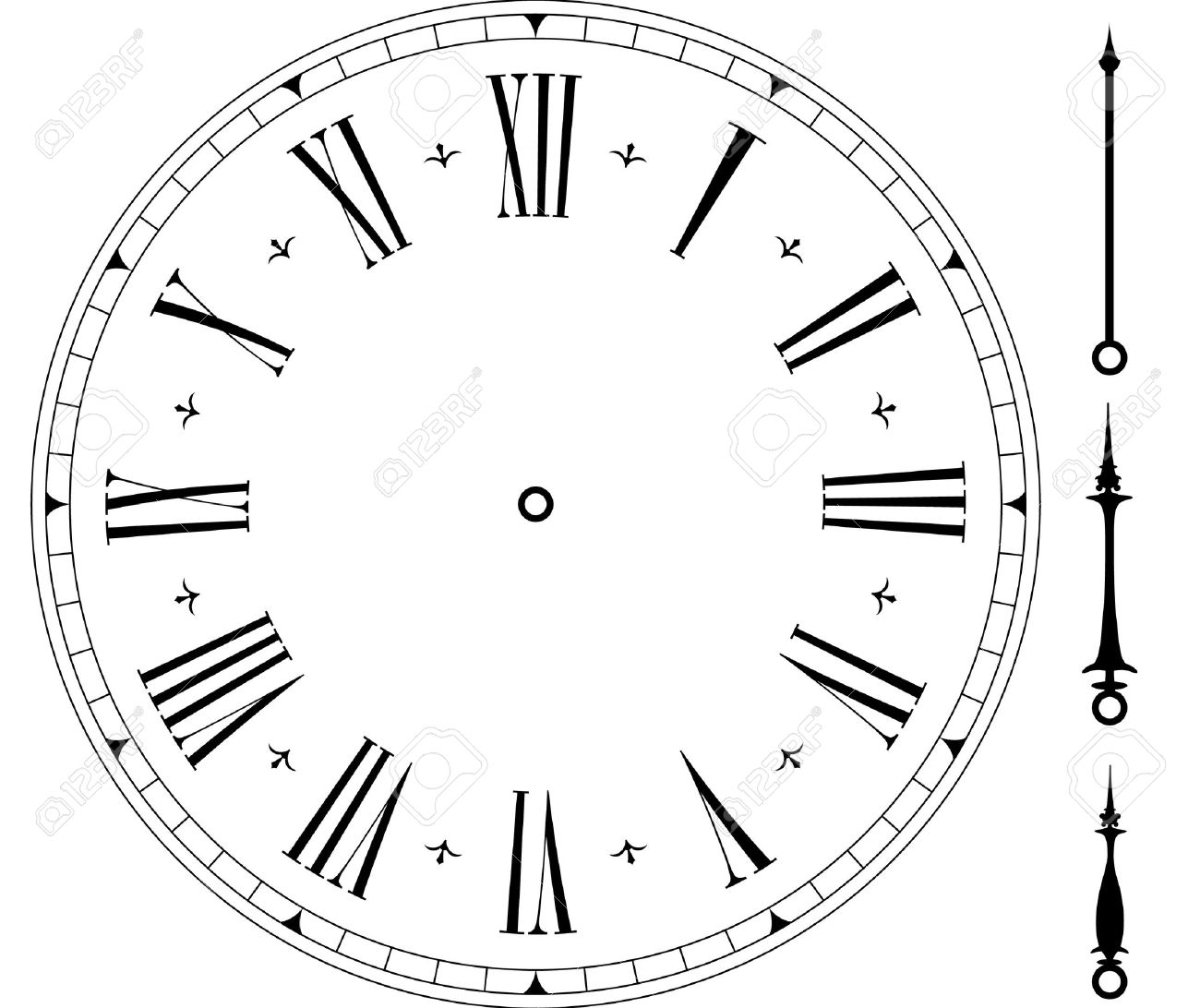 worksheet Clock Face illustration of an old clock face royalty free cliparts vectors stock vector 10095691
