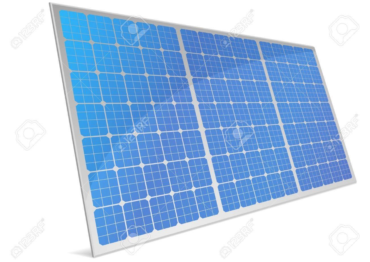 反射と太陽電池パネルのイラストのイラスト素材ベクタ Image 10095724
