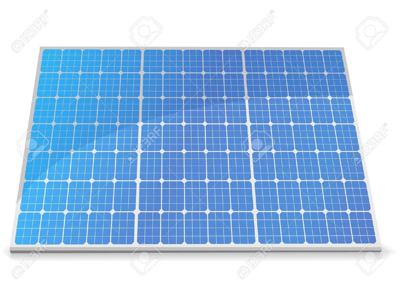 太陽電池モジュールのイラストのイラスト素材ベクタ Image 10095723