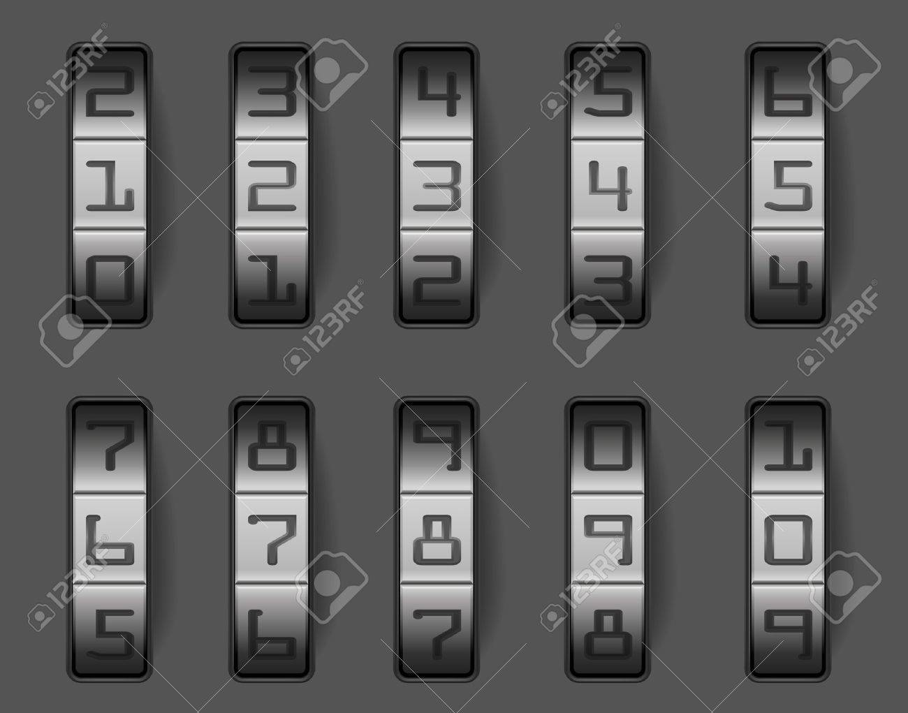 illustration of a combination lock with different numbers, eps 8 vector Stock Vector - 11005403