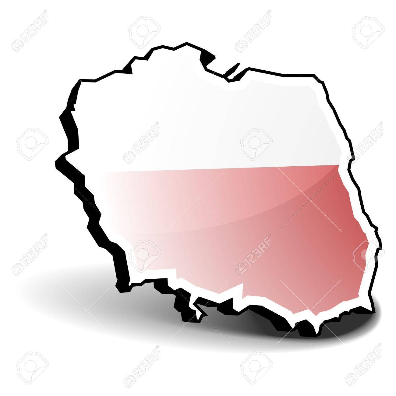 3D illustration of Poland with flag, eps8 vector Stock Vector - 11498127