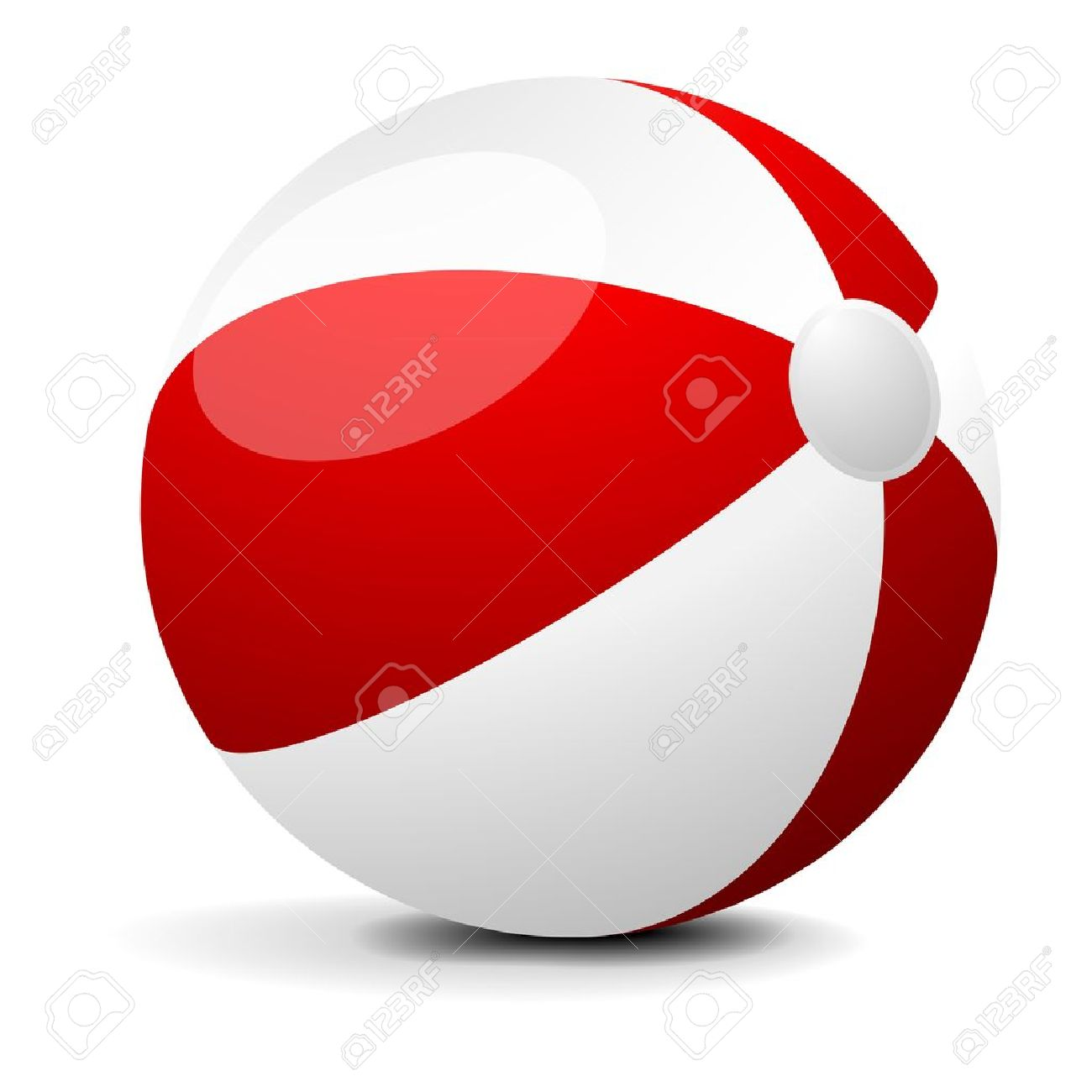 illustration of a red and white beach ball, eps 8 vector Stock Vector - 11856009