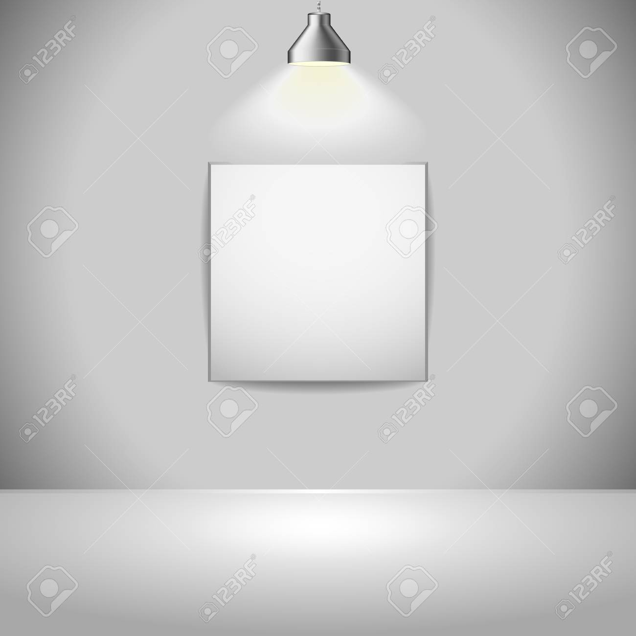 illustration of an exhition frame with light source from above, eps 8 vector Stock Vector - 11856014