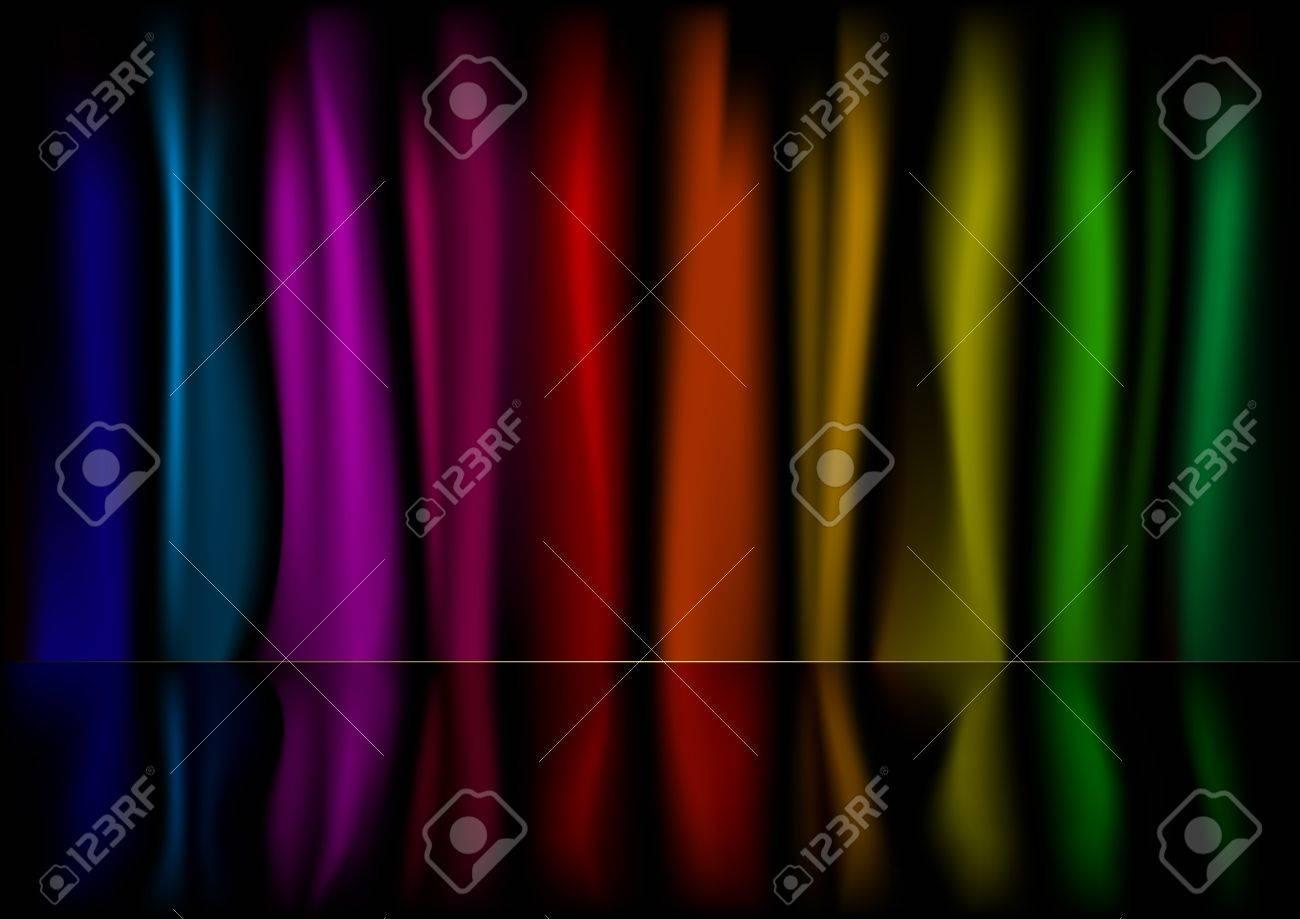 Illustration D\'un Fond De Rideau Multicolore Avec La Réflexion Clip ...