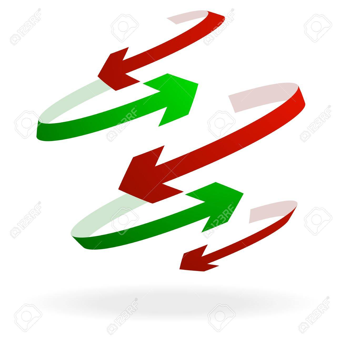 Illustration Of Colorful Arrows Pointing In Different Directions