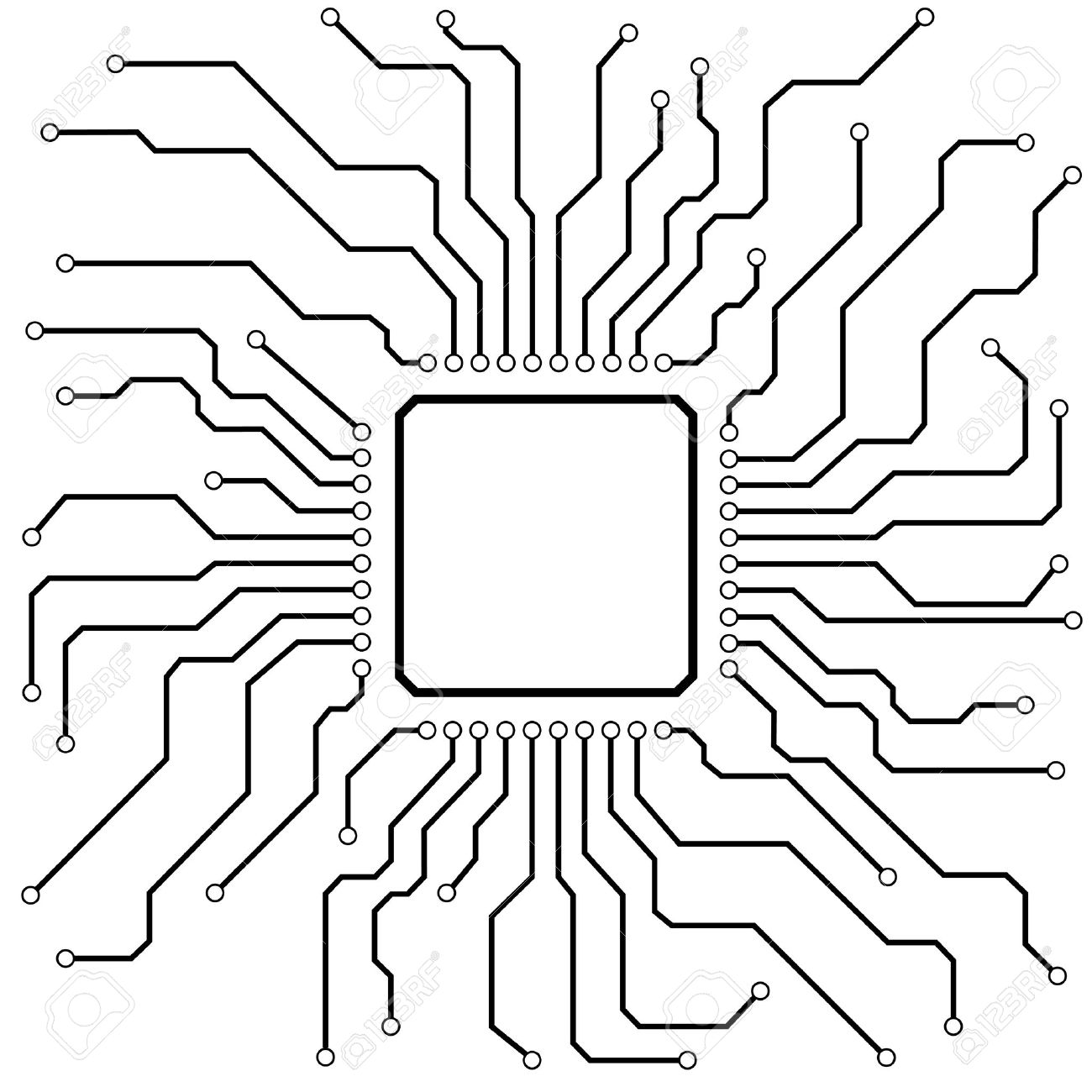 Illustration Of A Hi-tech Circuit Board Royalty Free Cliparts ...