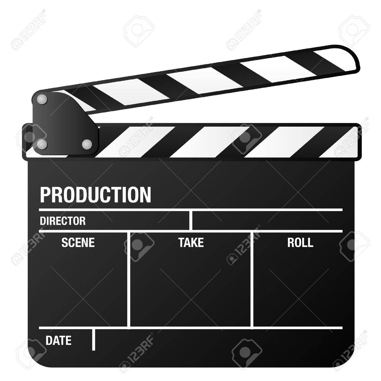 illustration of a clapper board, symbol for film and video - 13097652