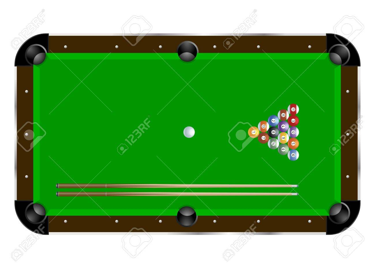 Pool table wood texture - Billiards Table Texture Pool Triangle Detailed Illustration Of A Pool Table With Cues And Balls