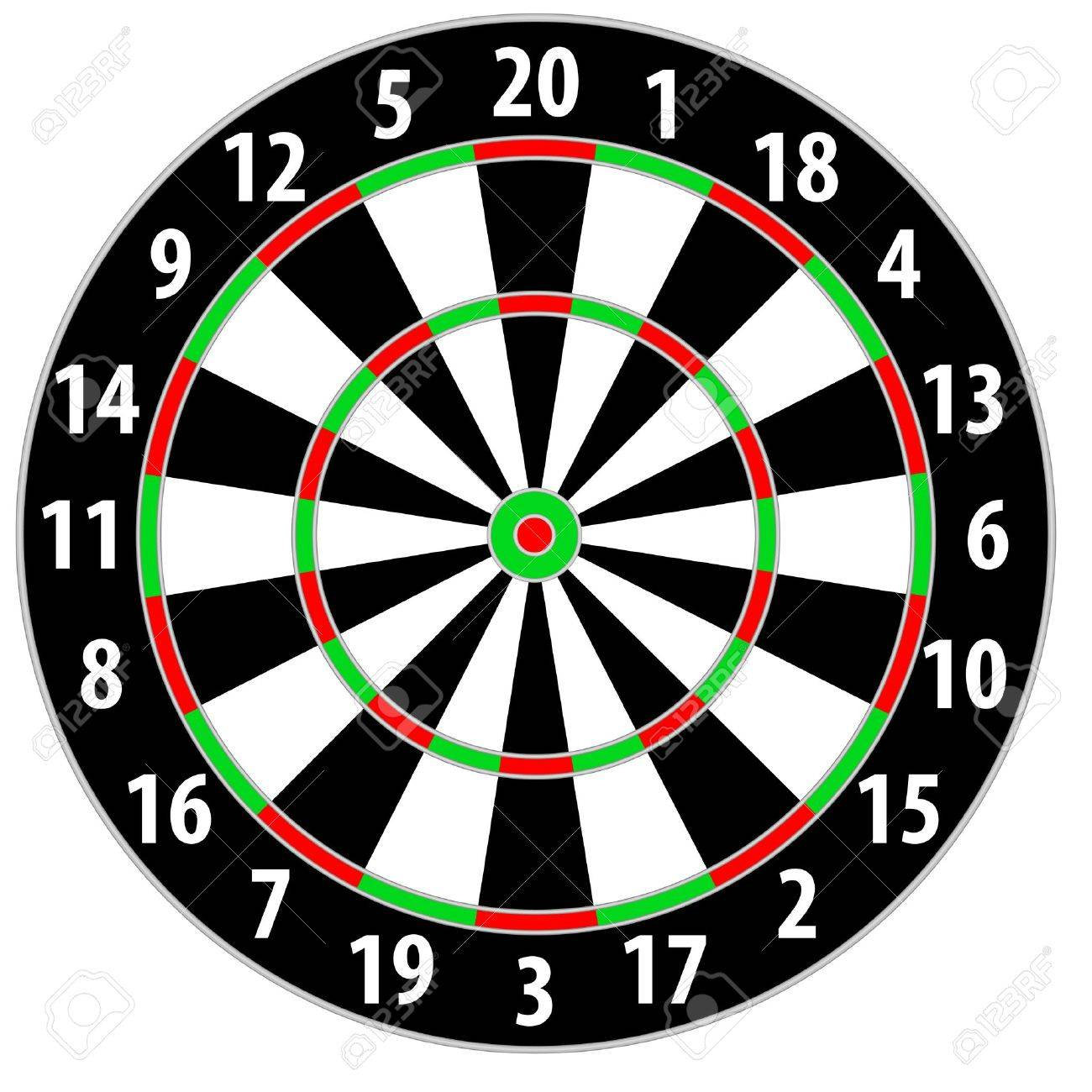 illustration of a dart board isolated on white background Stock Vector - 14850840