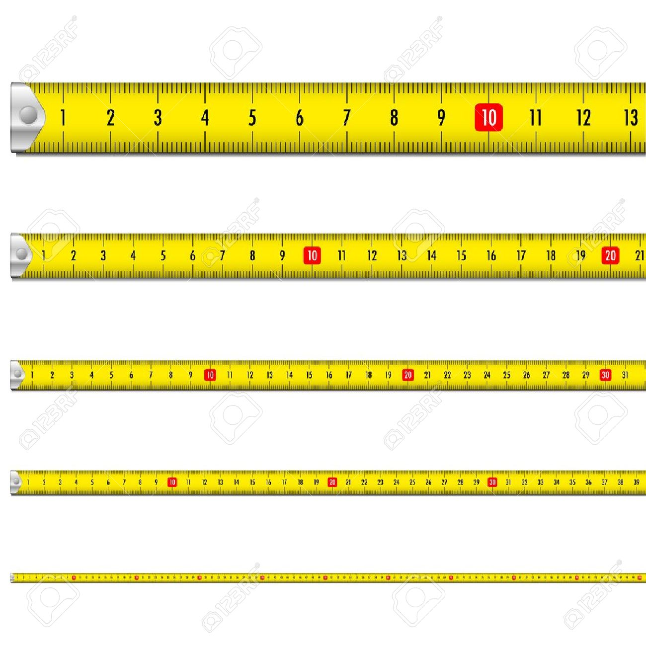 illustration of a yellow measure tape - 15797216