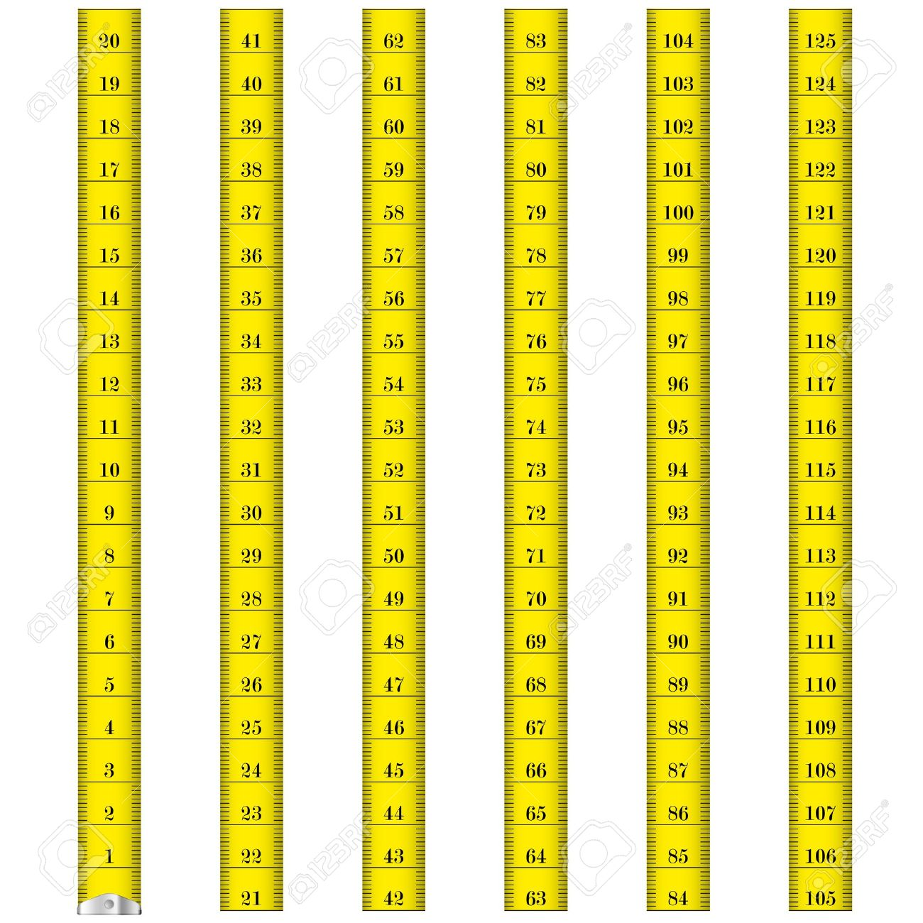 Vector of tape measure border a page border created from a rag tape - Beanstalk Border Done Illustration Of A Yellow Measure Tape Used By Tailors Royalty Free
