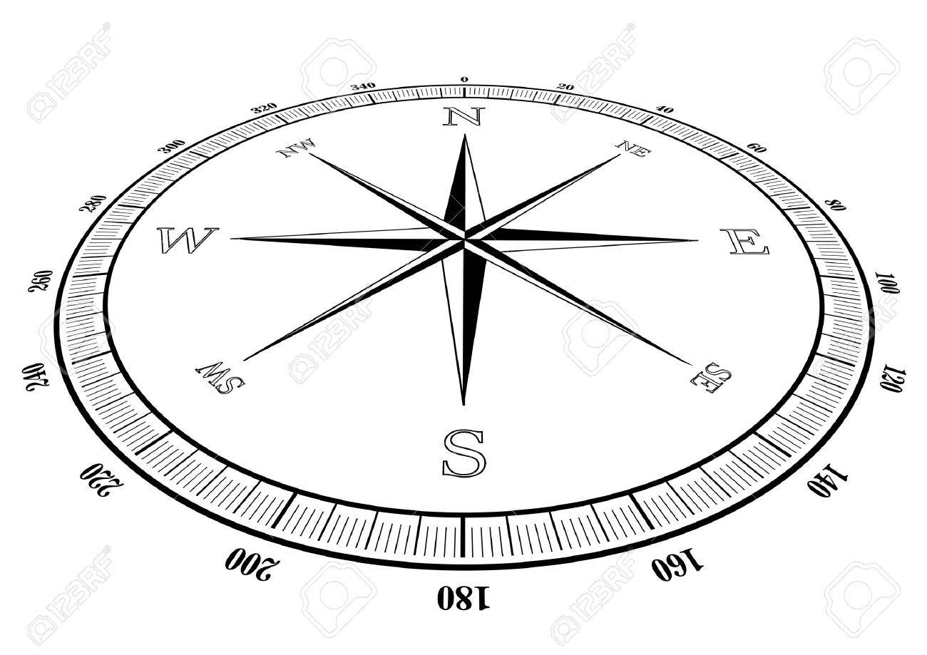 illustration of a compass rose Stock Vector - 15795687
