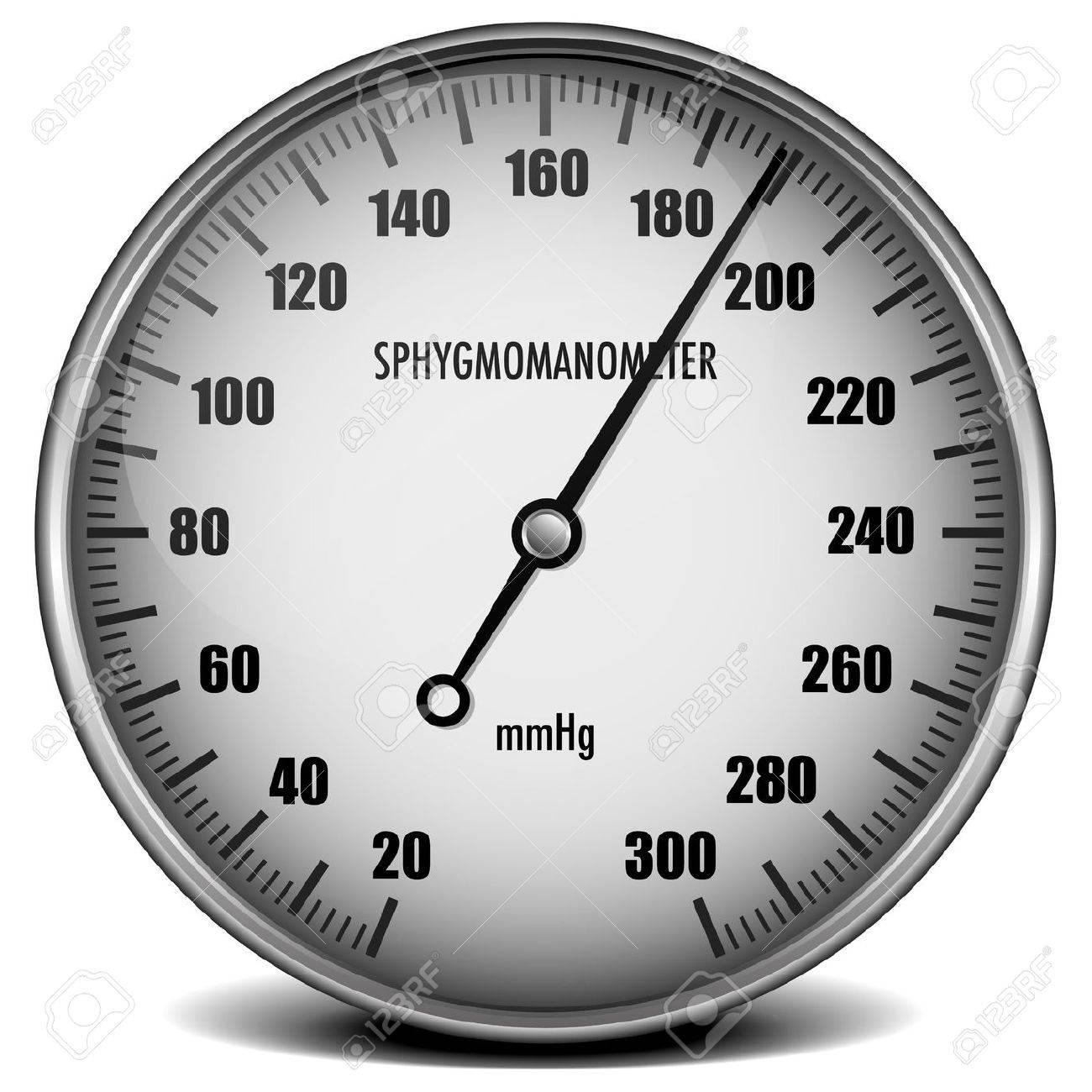 illustration of a sphygmomanometer for measuring blood pressure Stock Illustration - 15797213