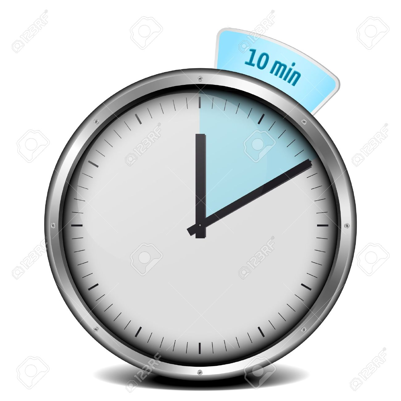 Illustration Of A Metal Framed 10min Timer Stock Photo, Picture ...