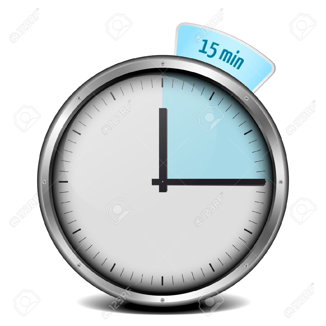 illustration of a metal framed 15min timer stock photo picture and