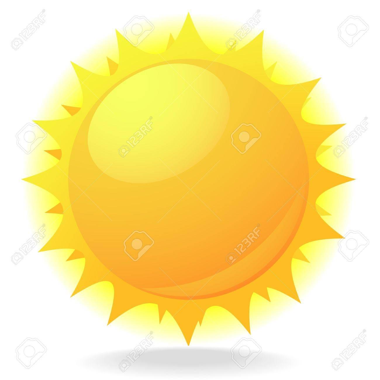 Ilustración de un sol con destellos y el brillo