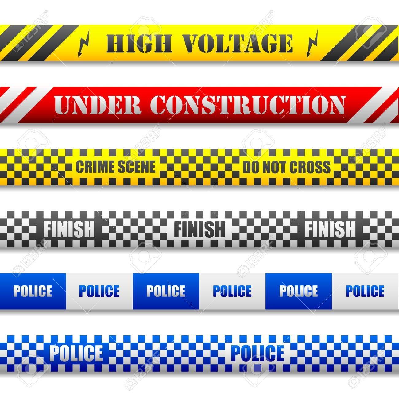 illustration of different caution lines - 17020276
