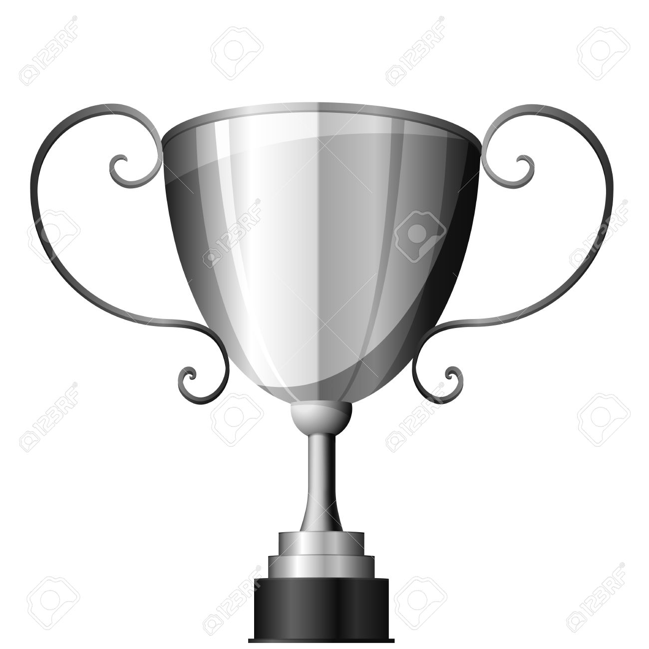 Detailed Illustration Of A Silver Trophy