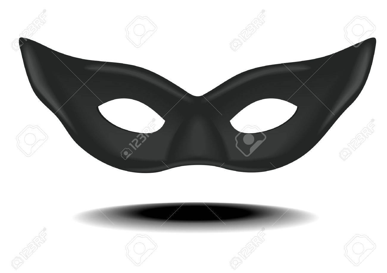 detailed illustration of a black carnivals mask - 17753866
