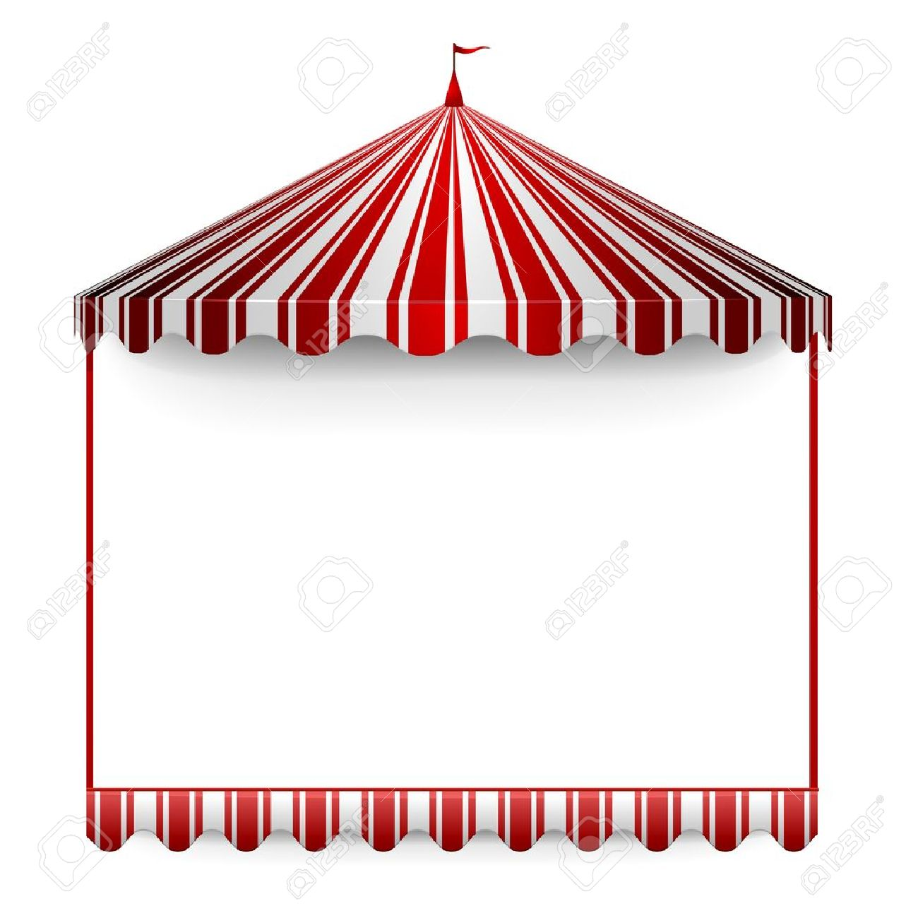 Detailed Illustration Of A Carnivals Frame With A Circus Tent ...