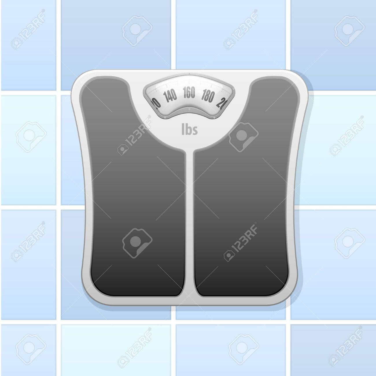 Detailed Illustration Of An Analog Bathroom Scale Stock Vector   18689605