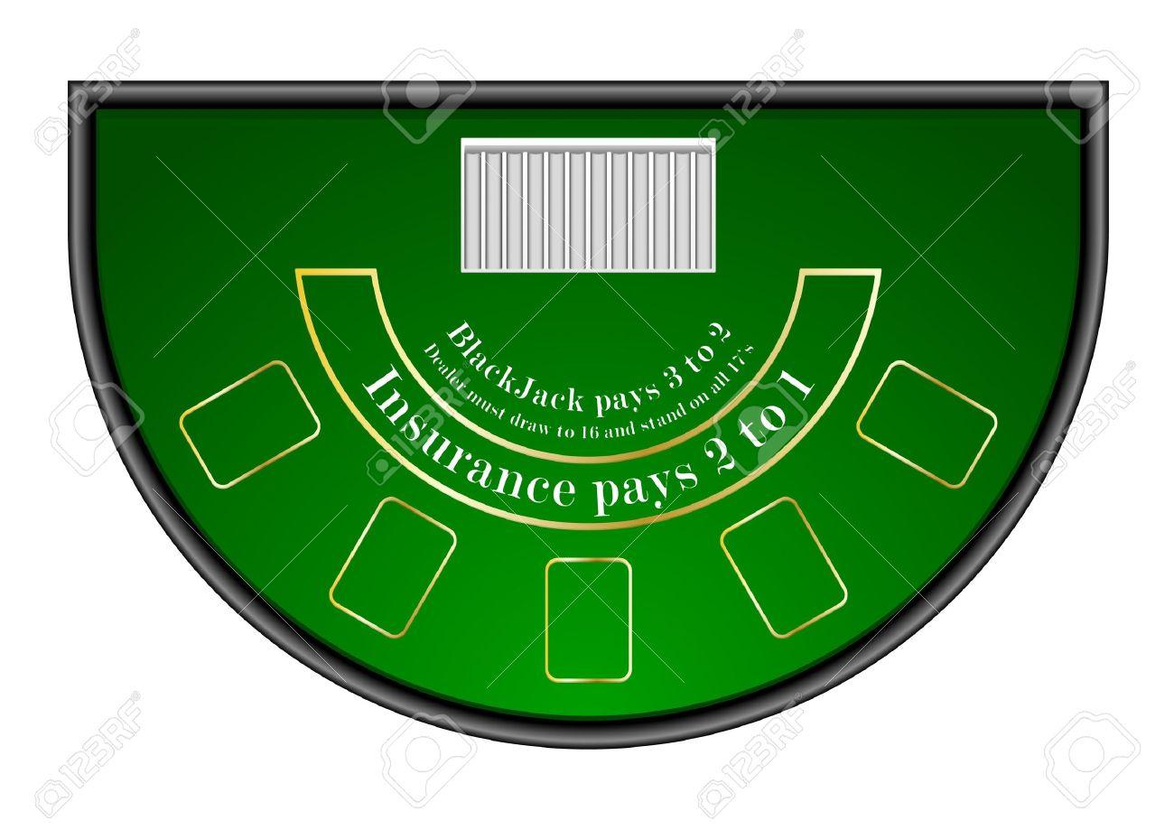 Blackjack table top view - Blackjack Table Detailed Illustration Of A Black Jack Gambling Table