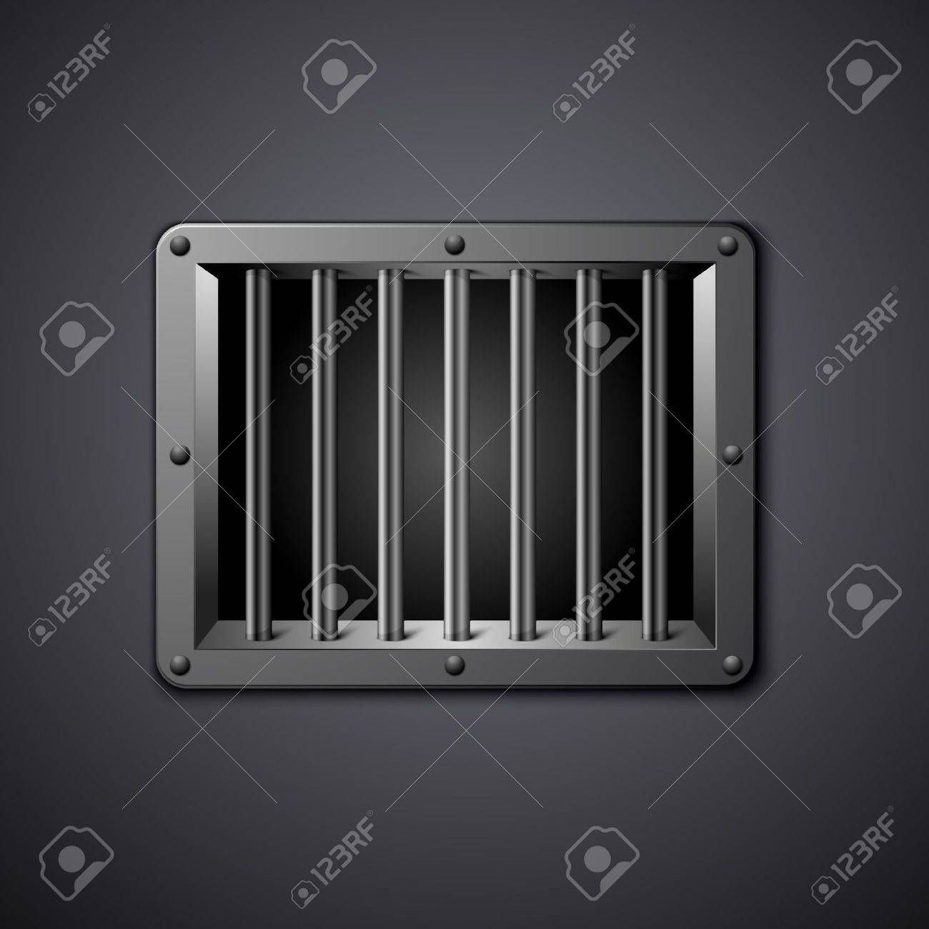 detailed illustration of a prison window Stock Vector - 18689647