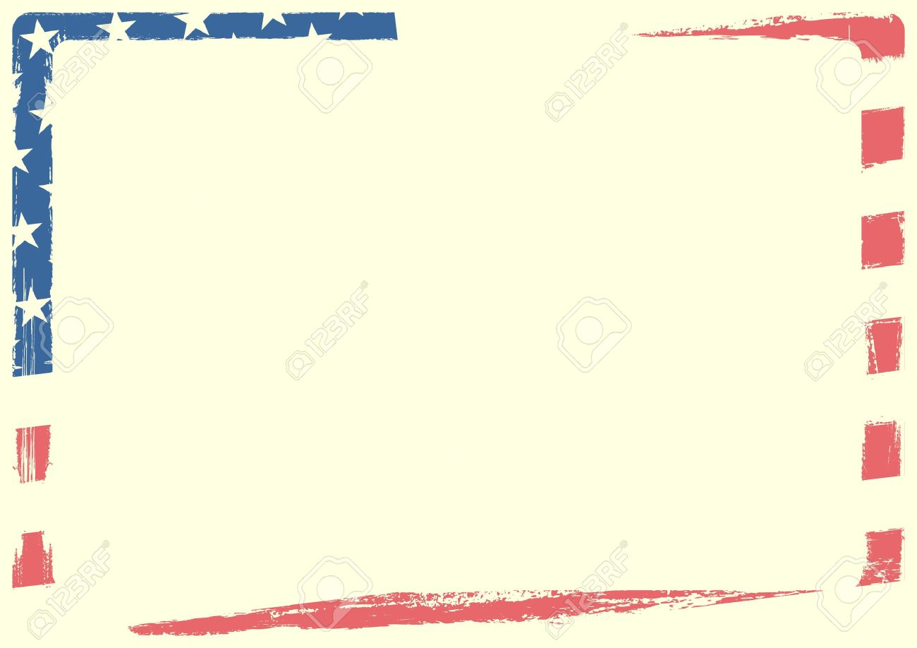 detailed background illustration of an american flag with grunge