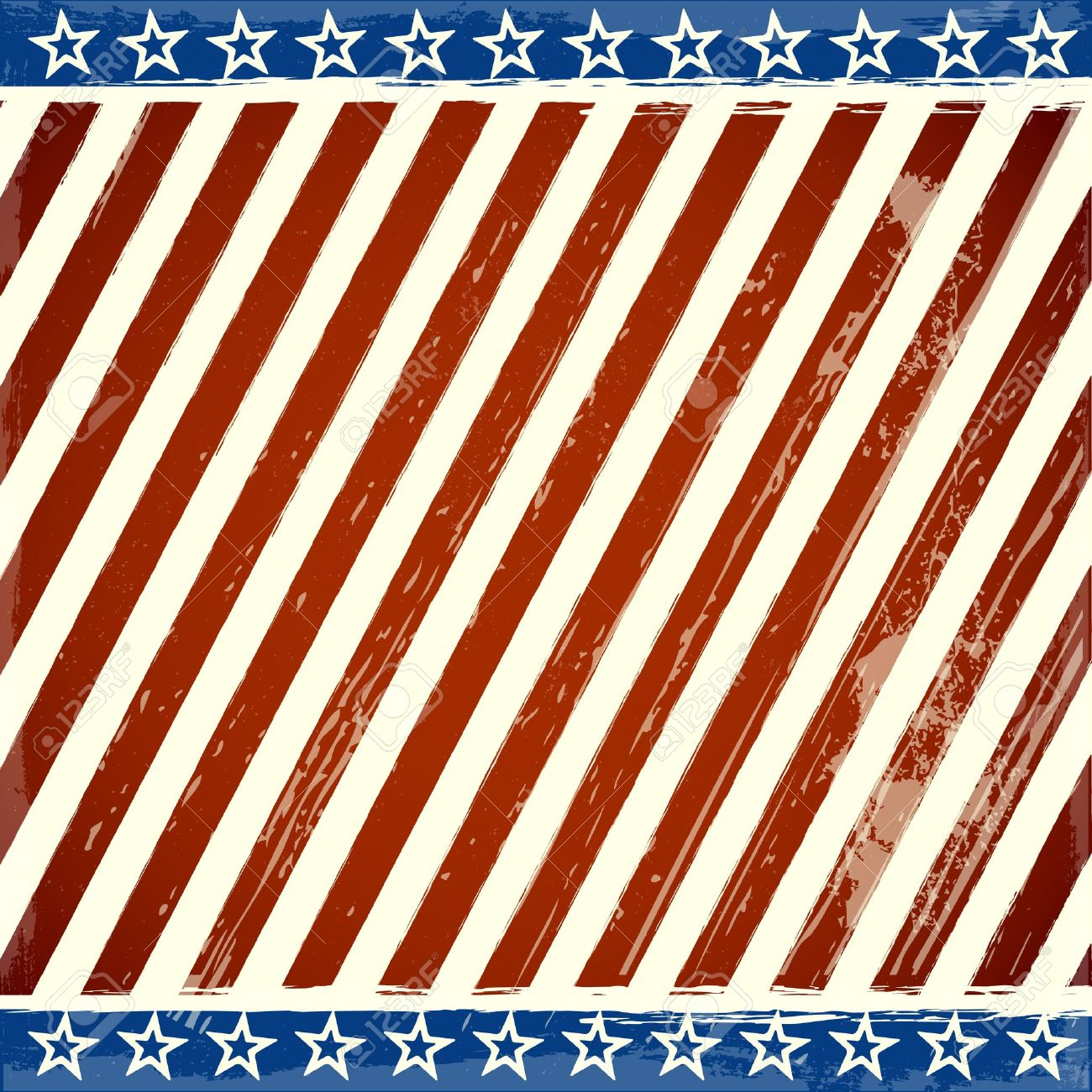 detailed illustration of a patriotic stars and stripes background with grunge elements Stock Vector - 20235208