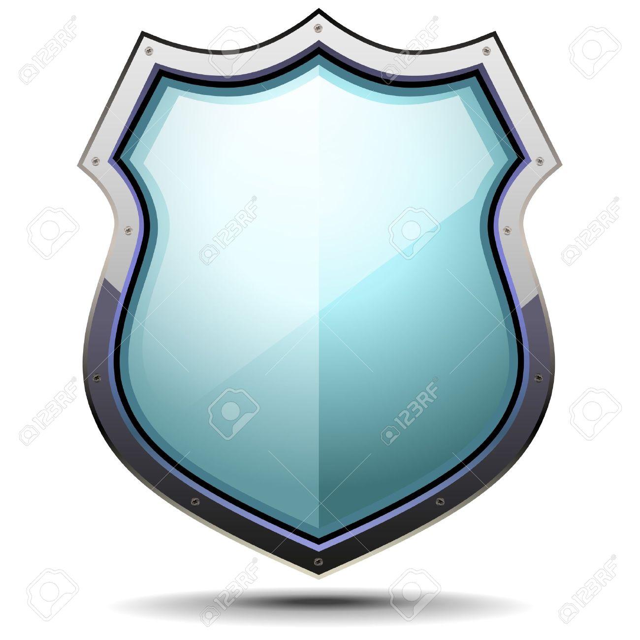 ilustración detallada de un escudo de armas símbolo de seguridad y