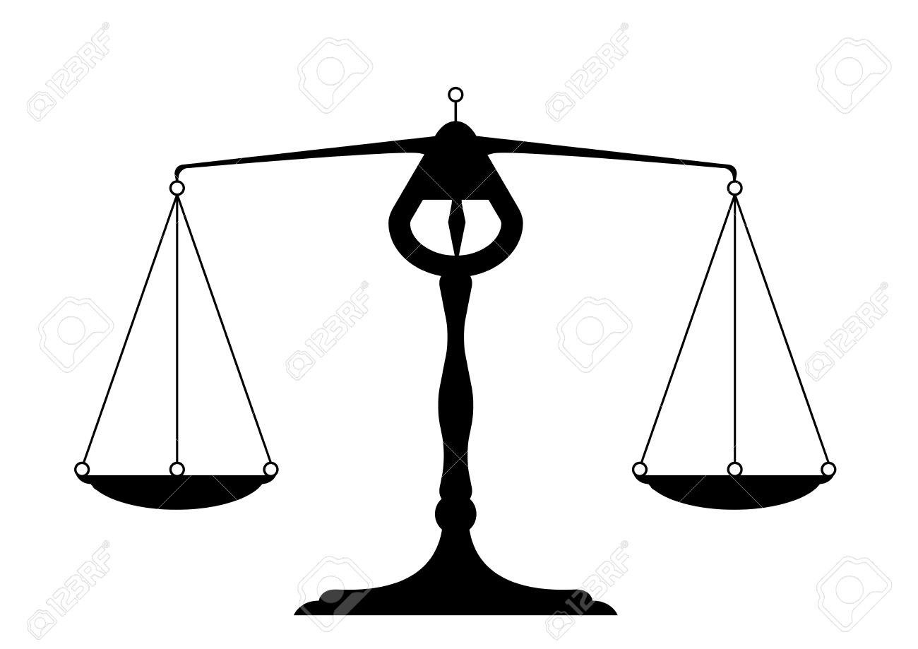 detailed illustration of a balance, symbol for justice Stock Vector -  21593590