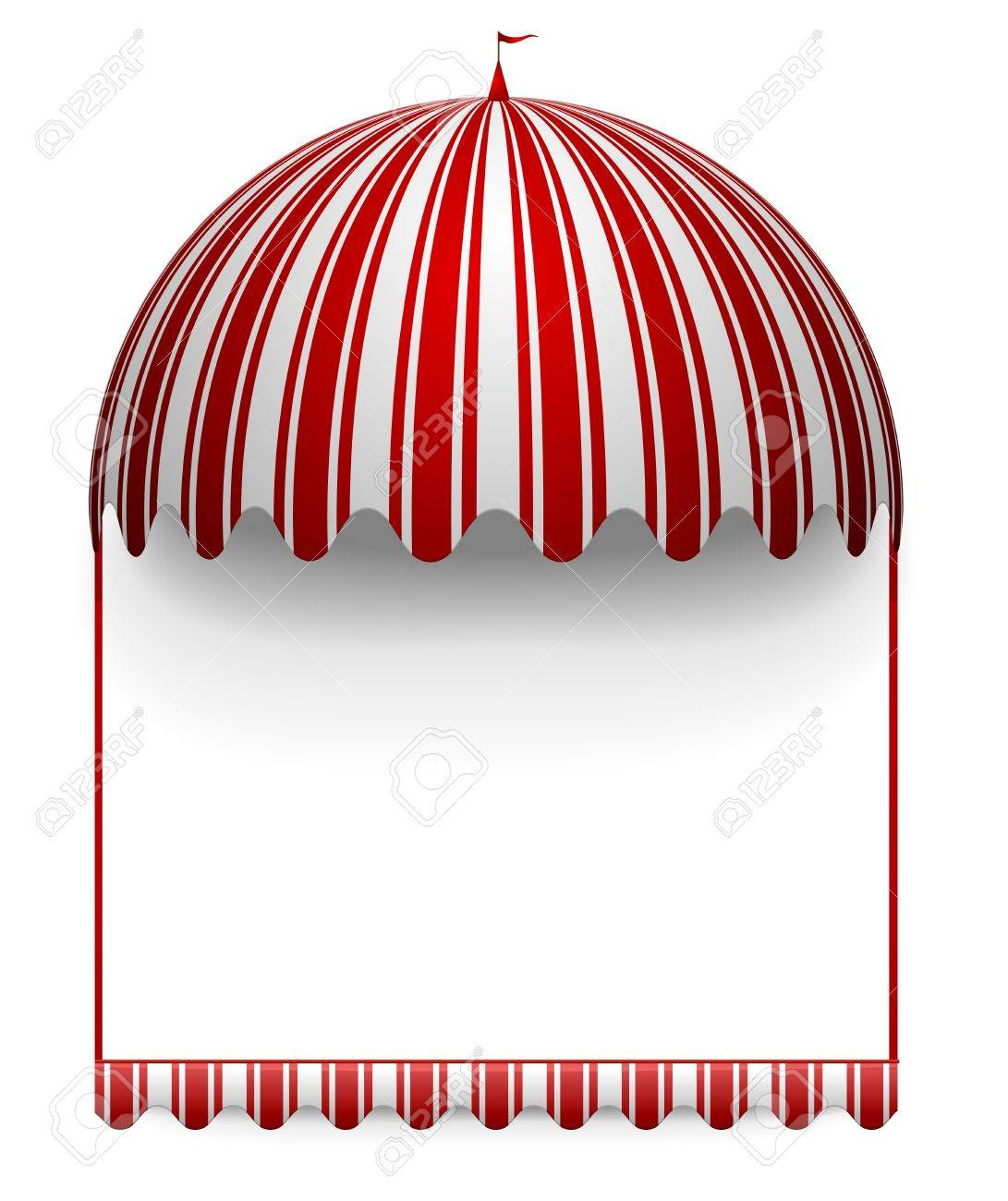 detailed illustration of a carnivals frame with a round circus awning on top - 21593596