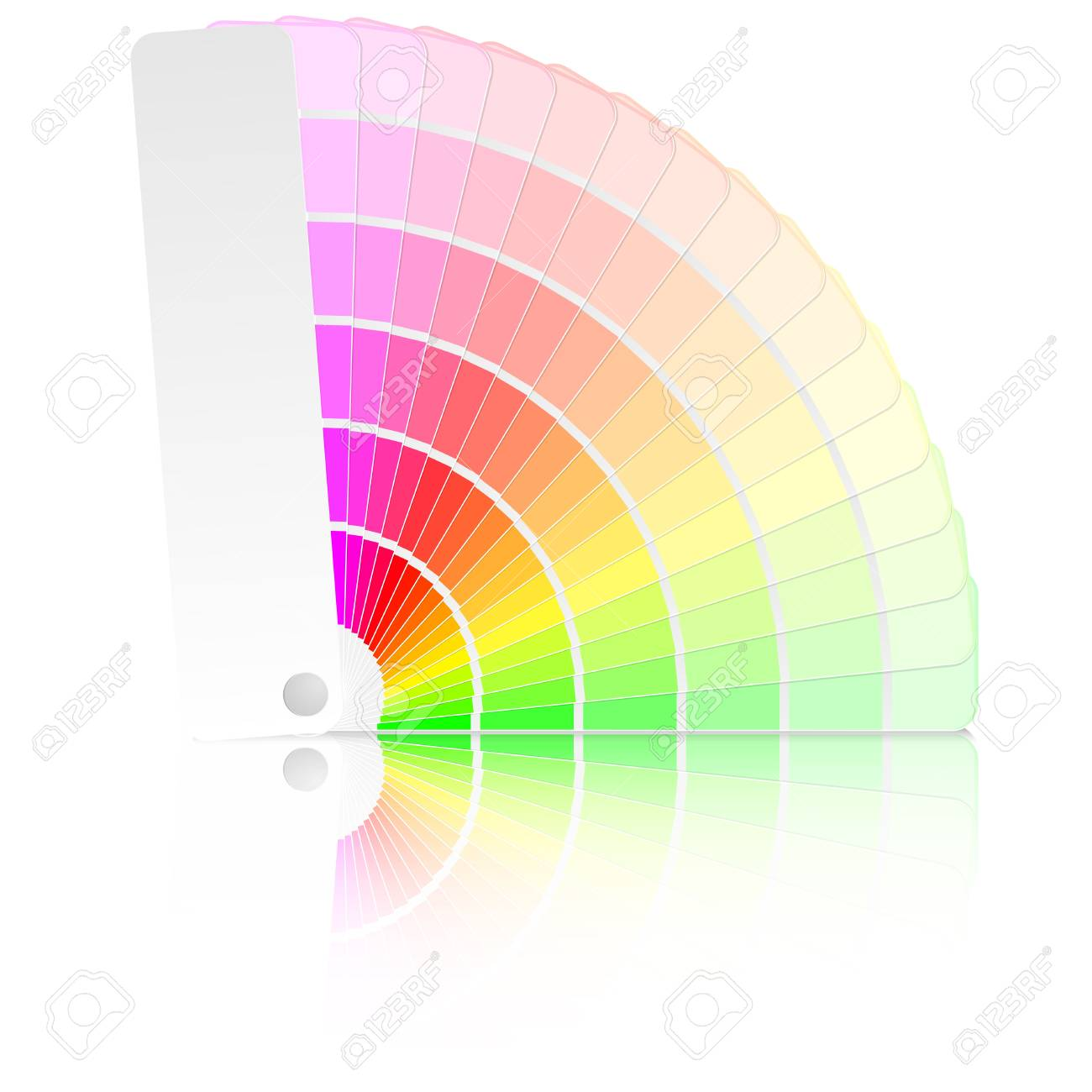 detailed illustration of a color guide with different colors and swatches Stock Vector - 21593600