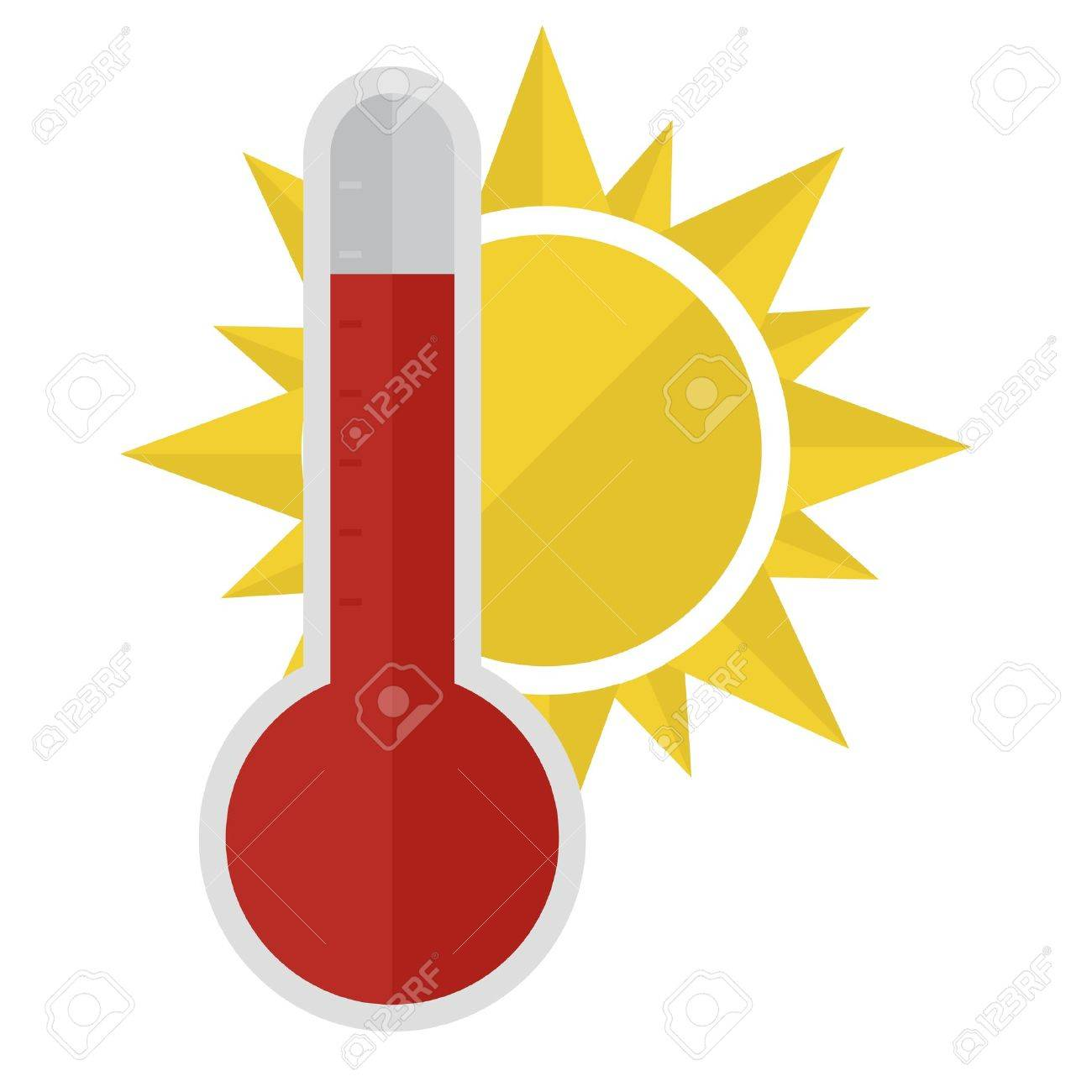 illustration of a thermometer with a sun Stock Vector - 21593618