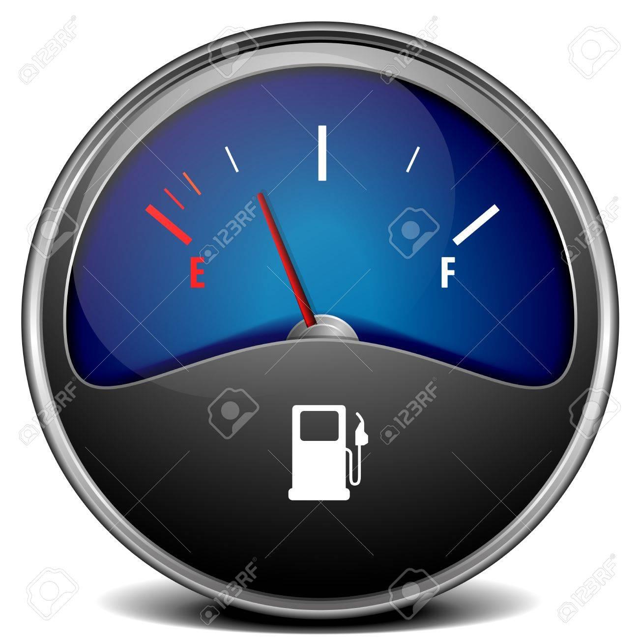 illustration of a motor gas gauge, eps 10 vector - 21593634