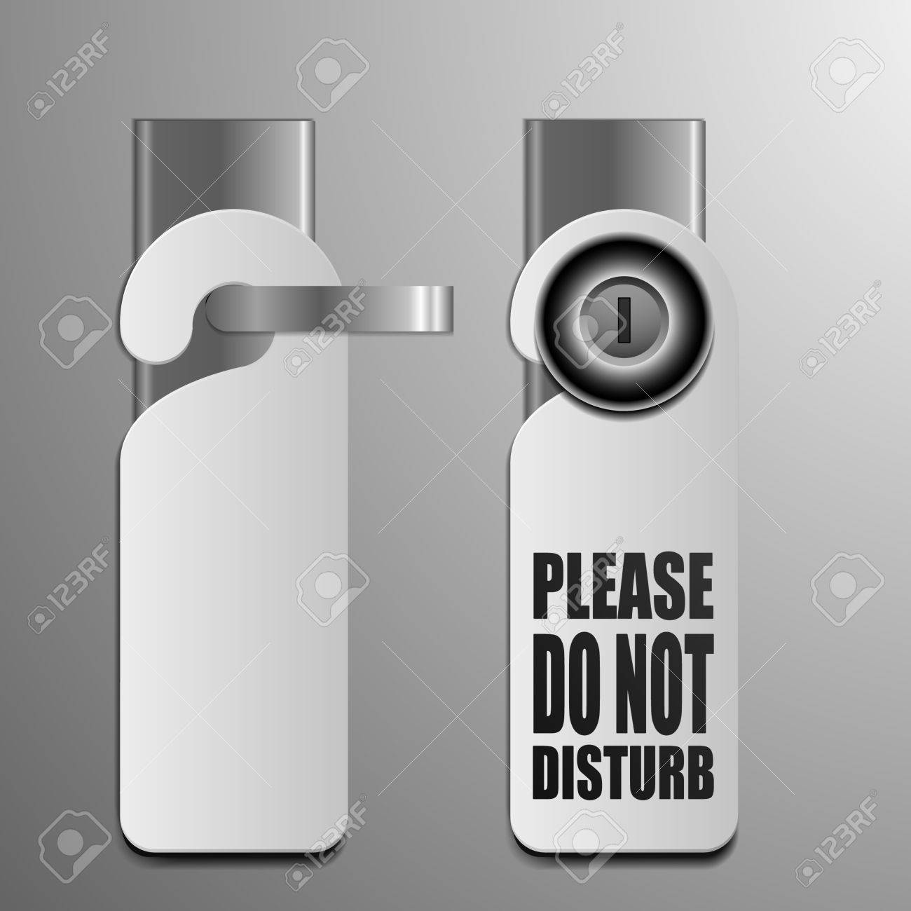 Detailed Illustration Of Do Not Disturb Sheets With Different ...