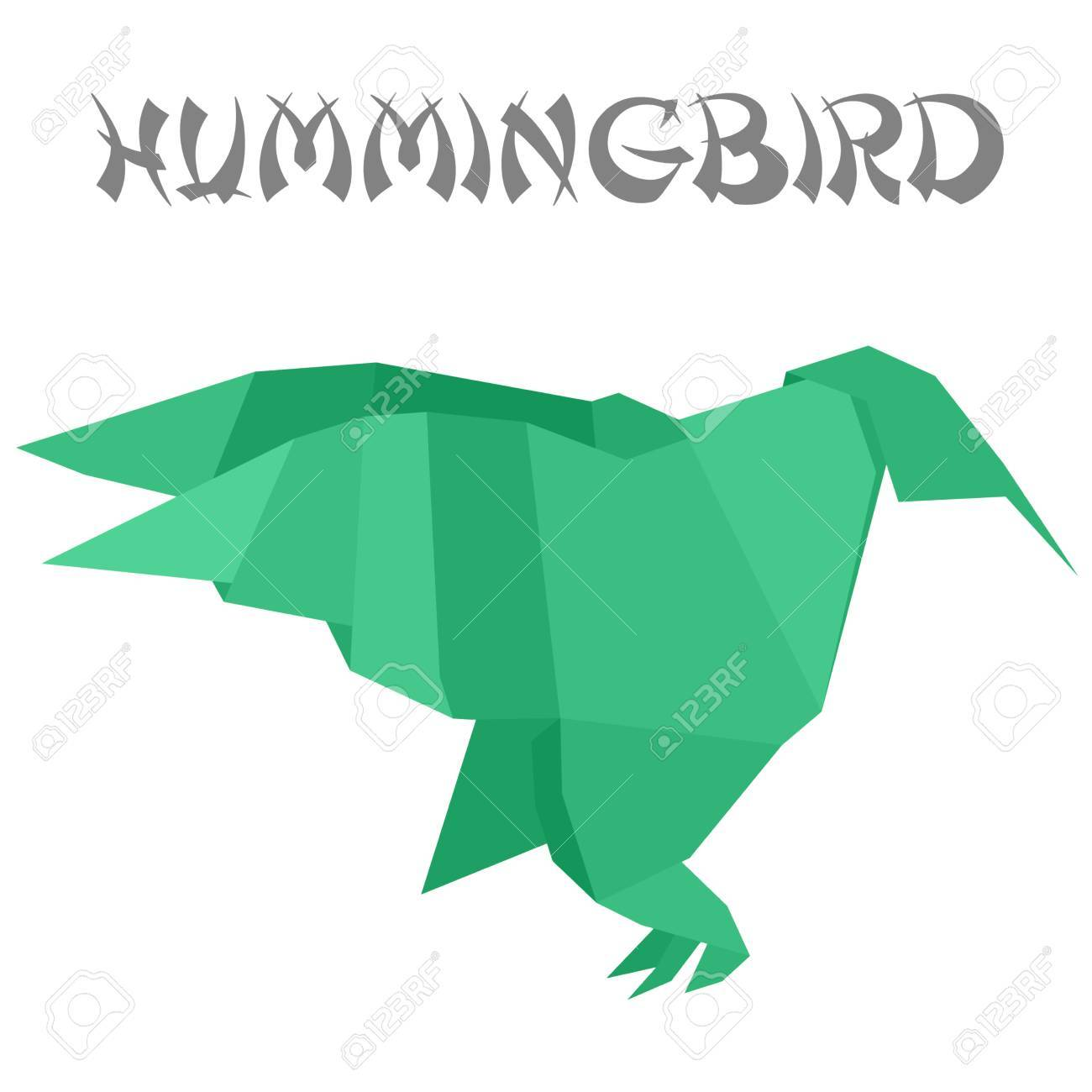 Origami hummingbird (a simple model) - OrigamiArt.Us   1300x1300