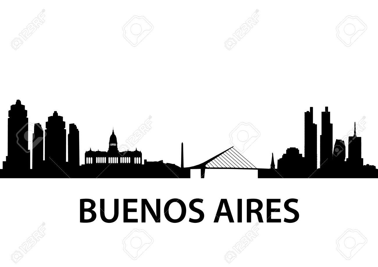 illustration of the Buenos Aires Skyline - 24146397