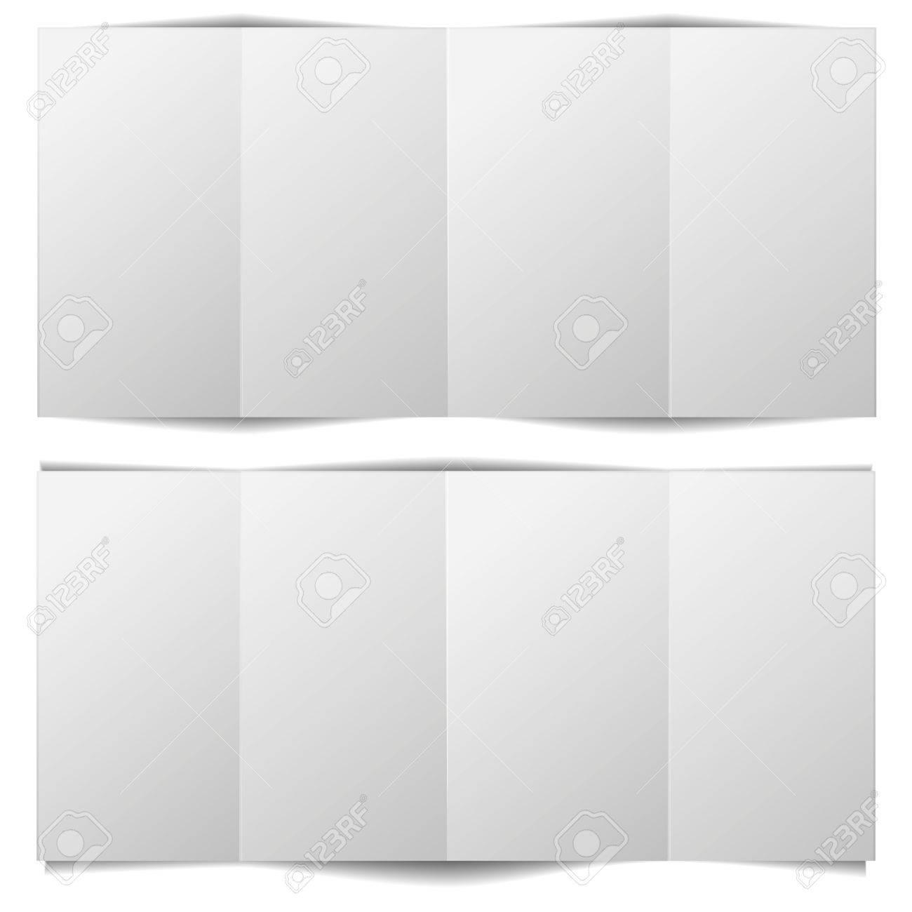 Detailed Illustration Of A Blank Brochure Template Royalty Free - Blank brochure template