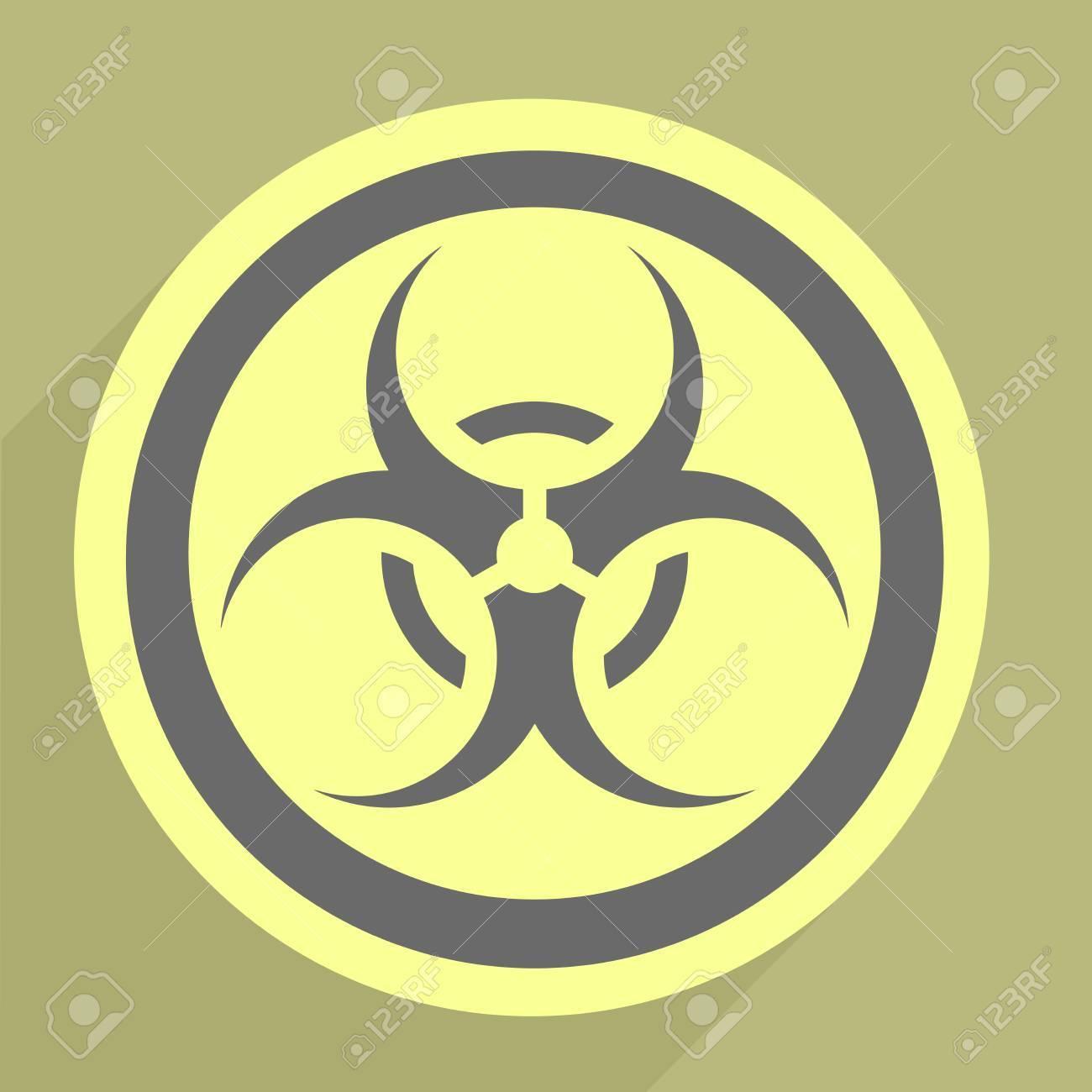 minimalistic illustration of a biohazard icon Stock Vector - 26395377