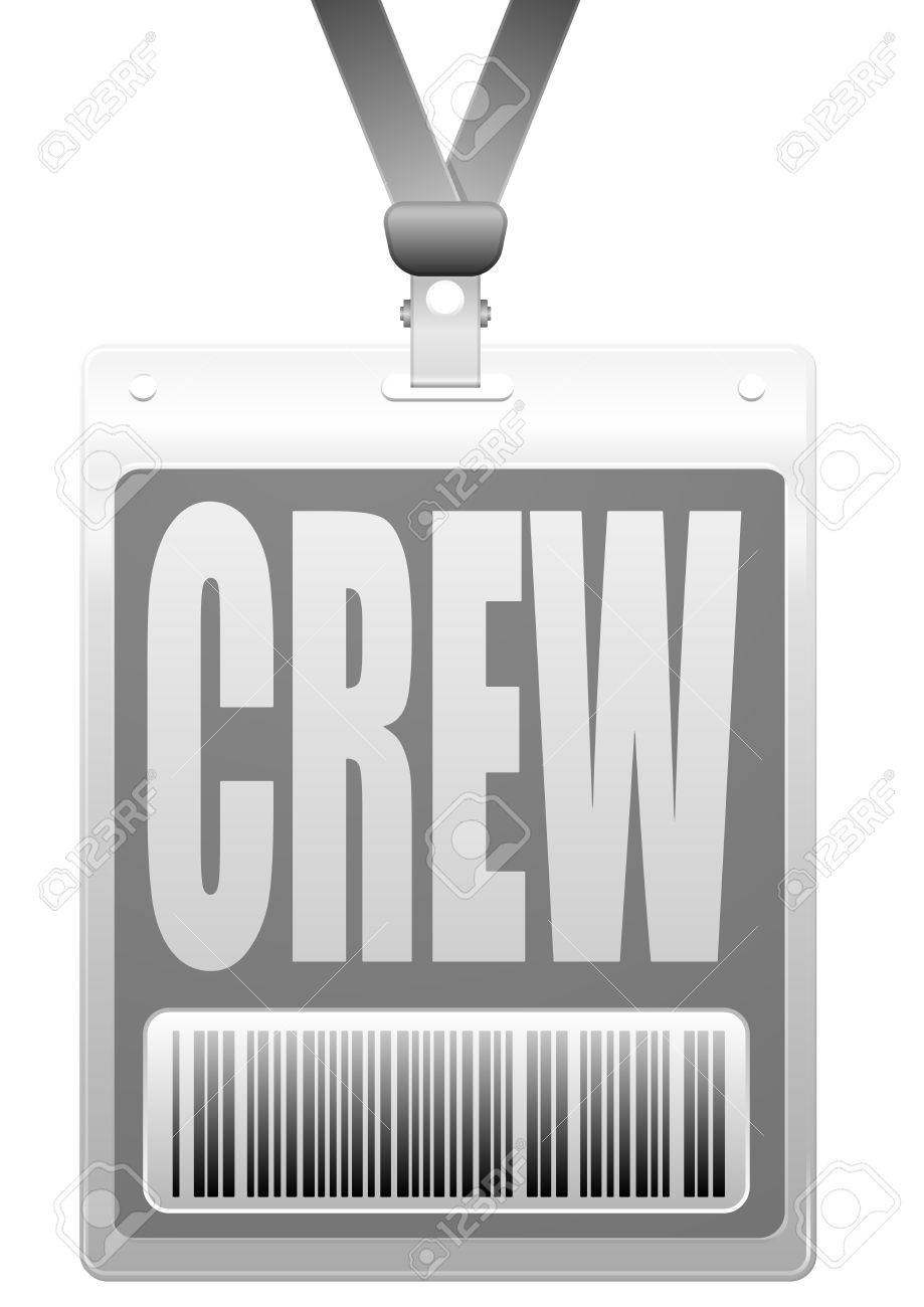 detailed illustration of a plastic crew badge with barcode Stock Vector - 26740060