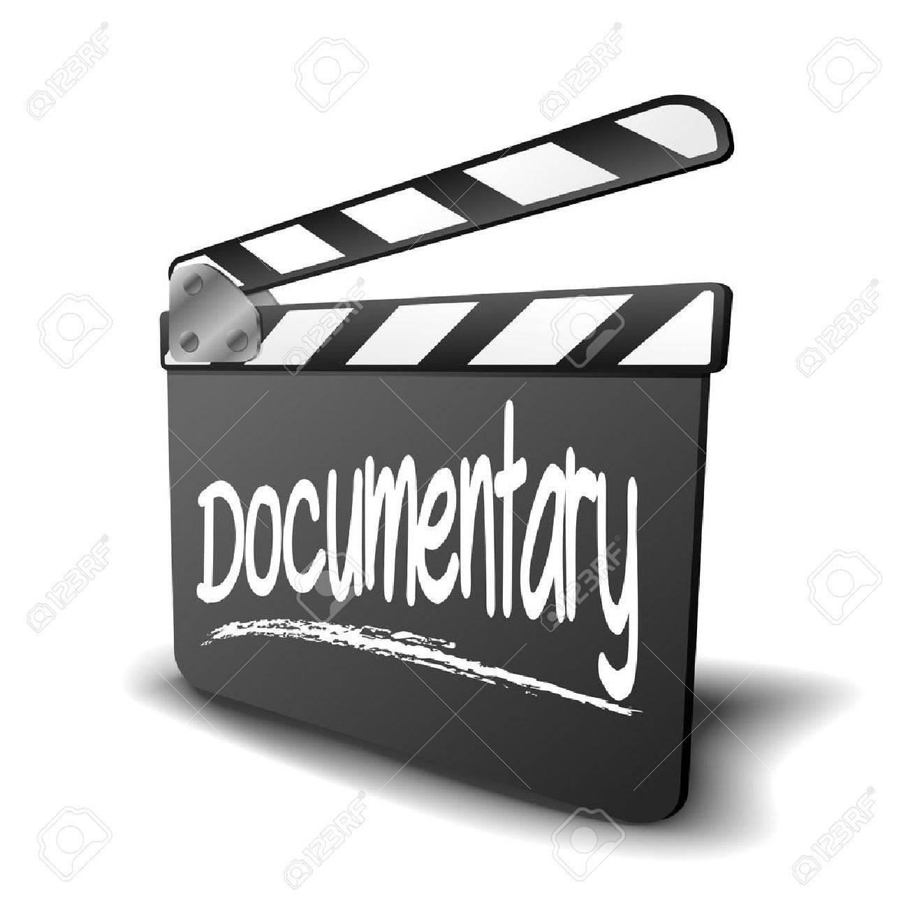 Banque d'images - Illustration détaillée d'un panneau de clapet pour une  durée Documentaire, symbole pour le cinéma et le genre de vidéo