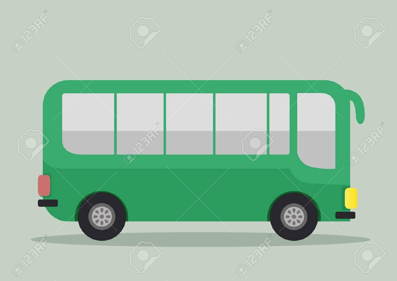 バス、eps10 ベクターのミニマルなイラスト ロイヤリティフリー