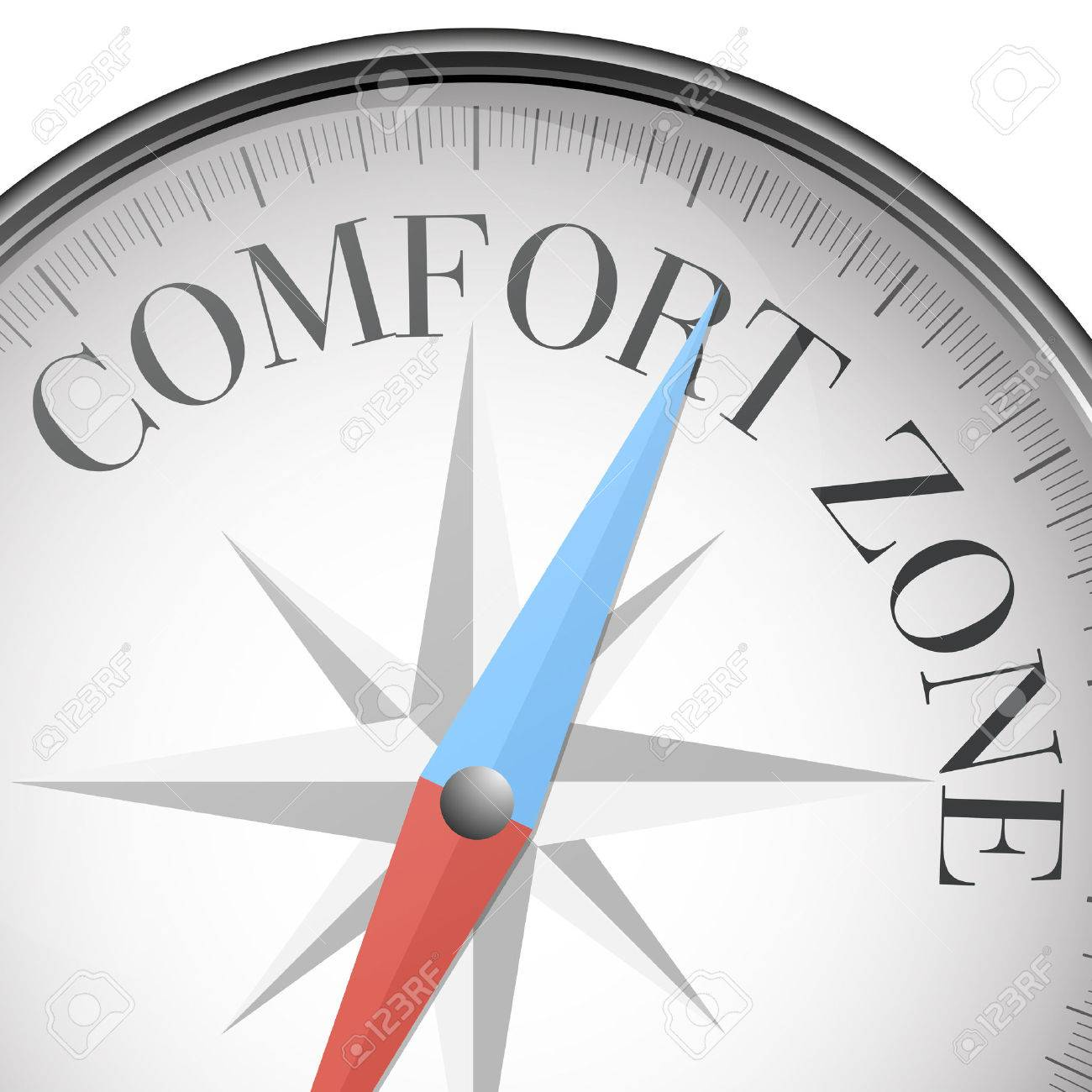 detailed illustration of a compass with comfort zone text, eps10 vector - 34509842