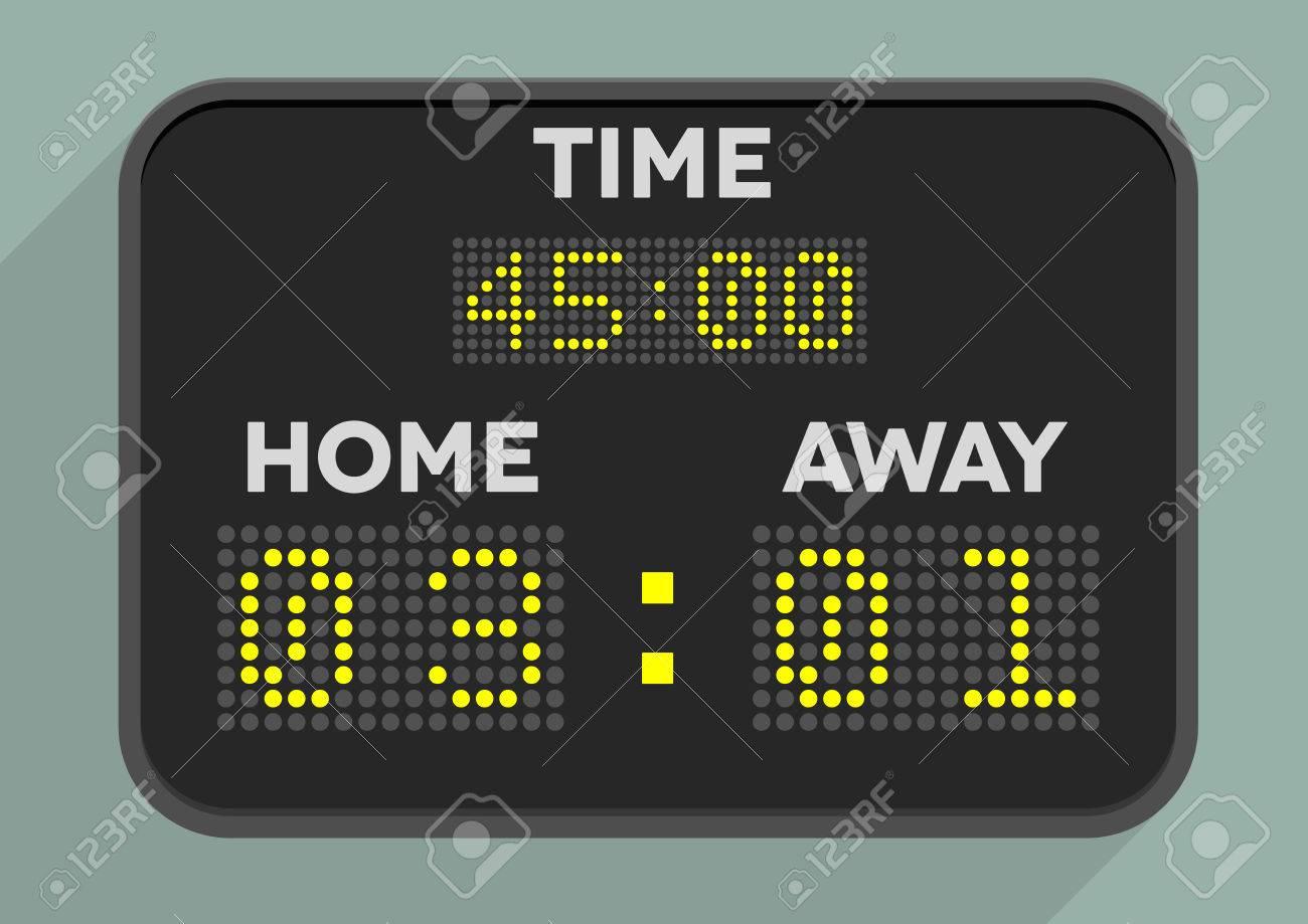 minimalistic illustration of a sports scoreboard - 36438985