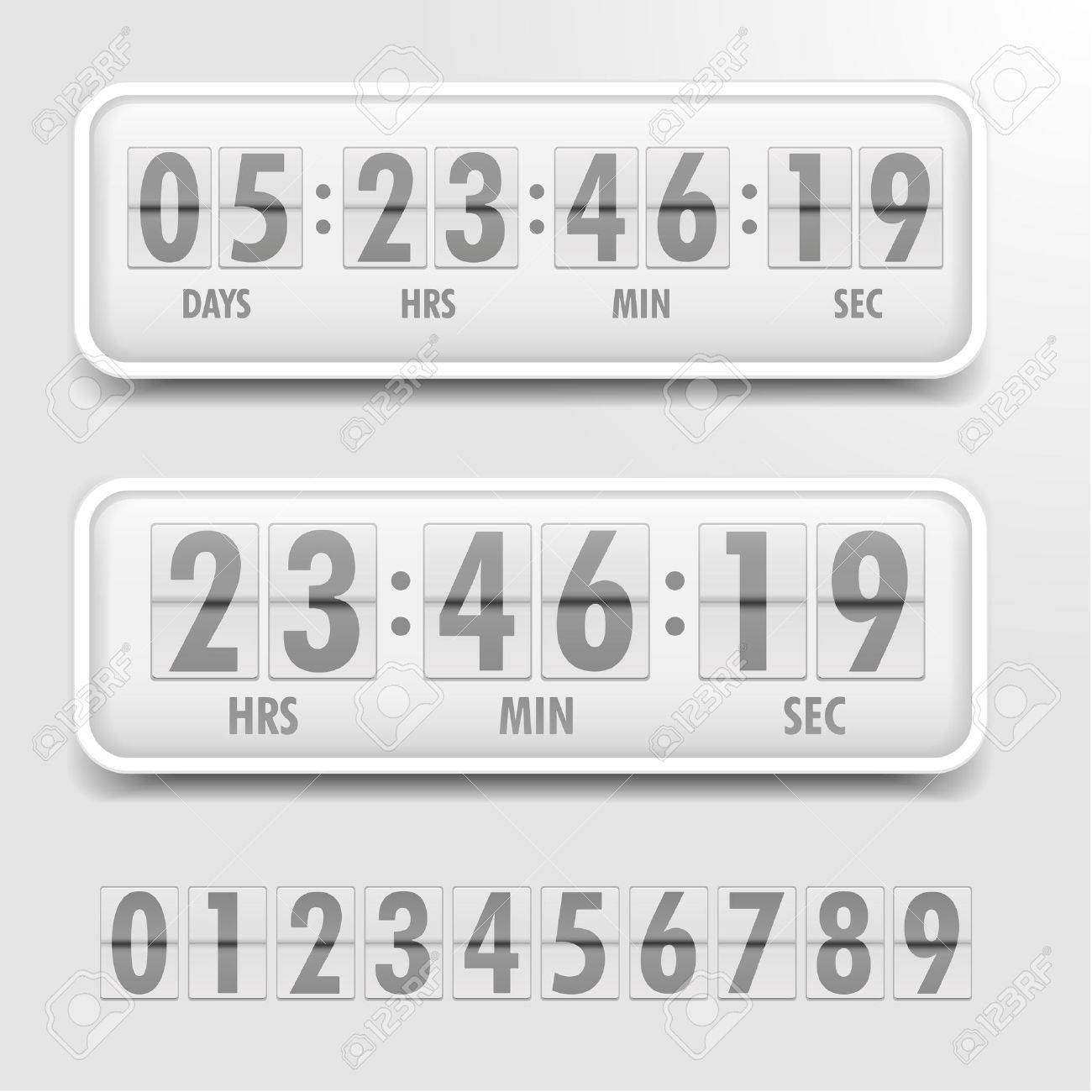 detailed illustration of a bright themed countdown timer - 38197572