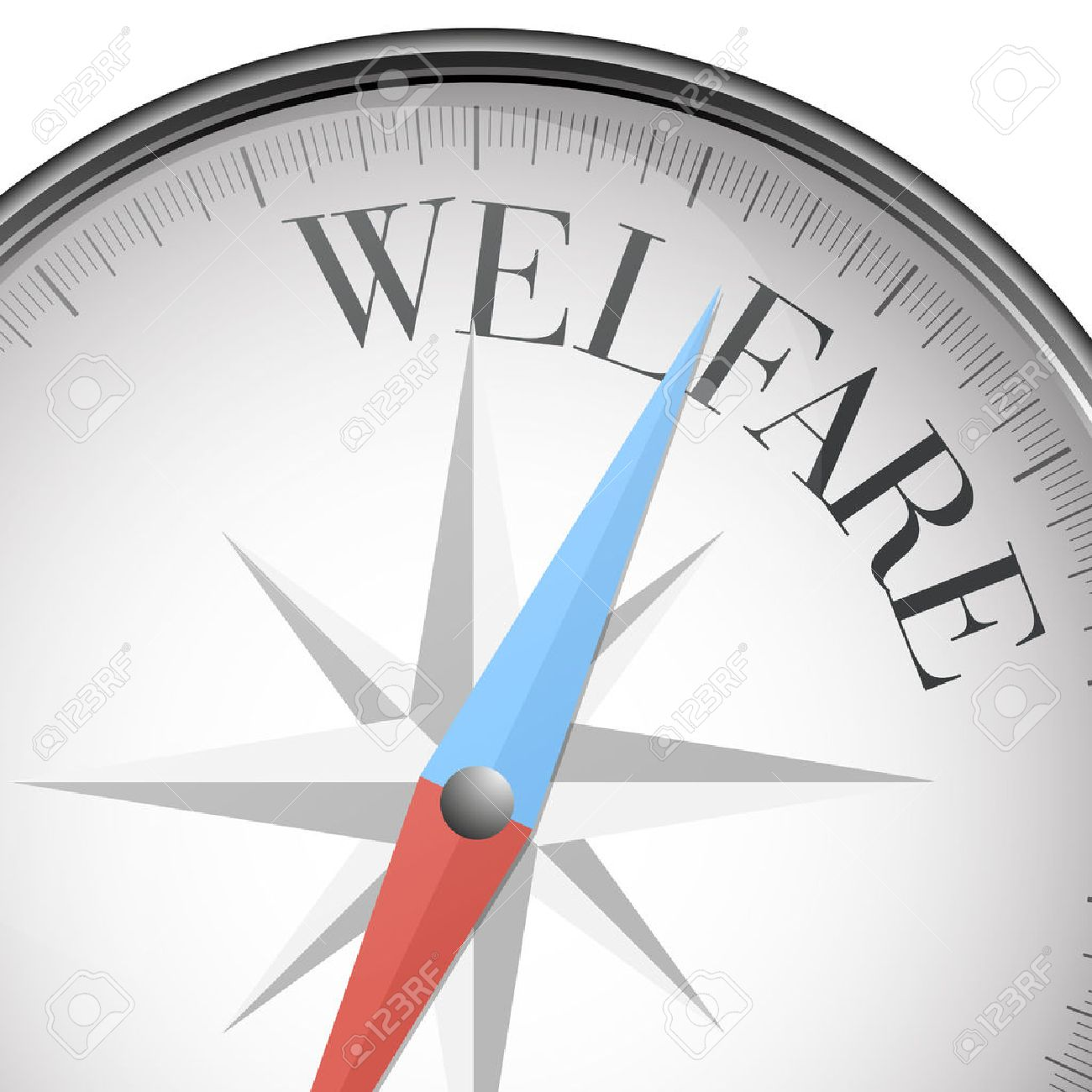 detailed illustration of a compass with welfare text, vector - 40339223
